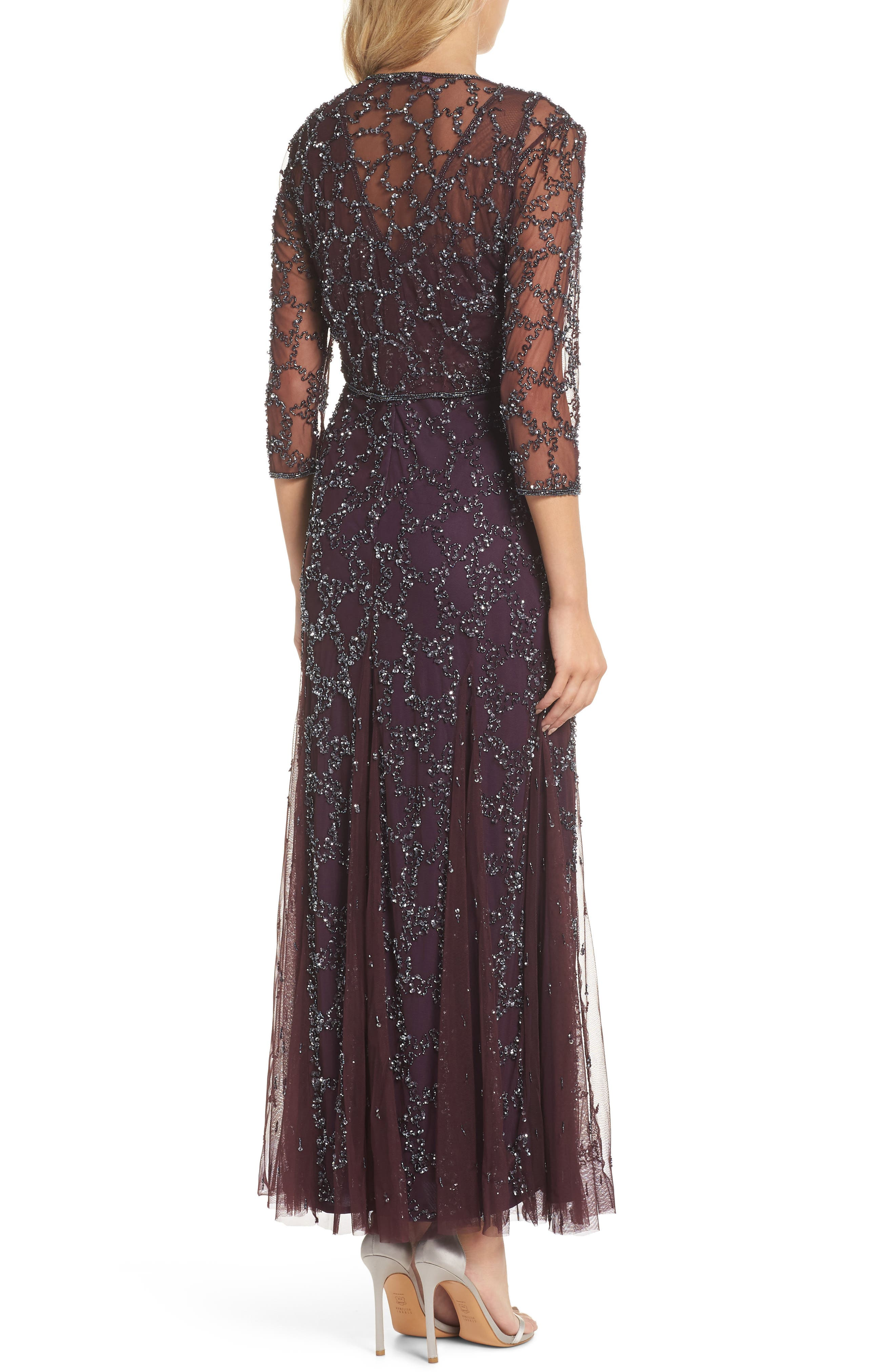 Sequin Mesh Gown with Jacket,                             Alternate thumbnail 2, color,                             502