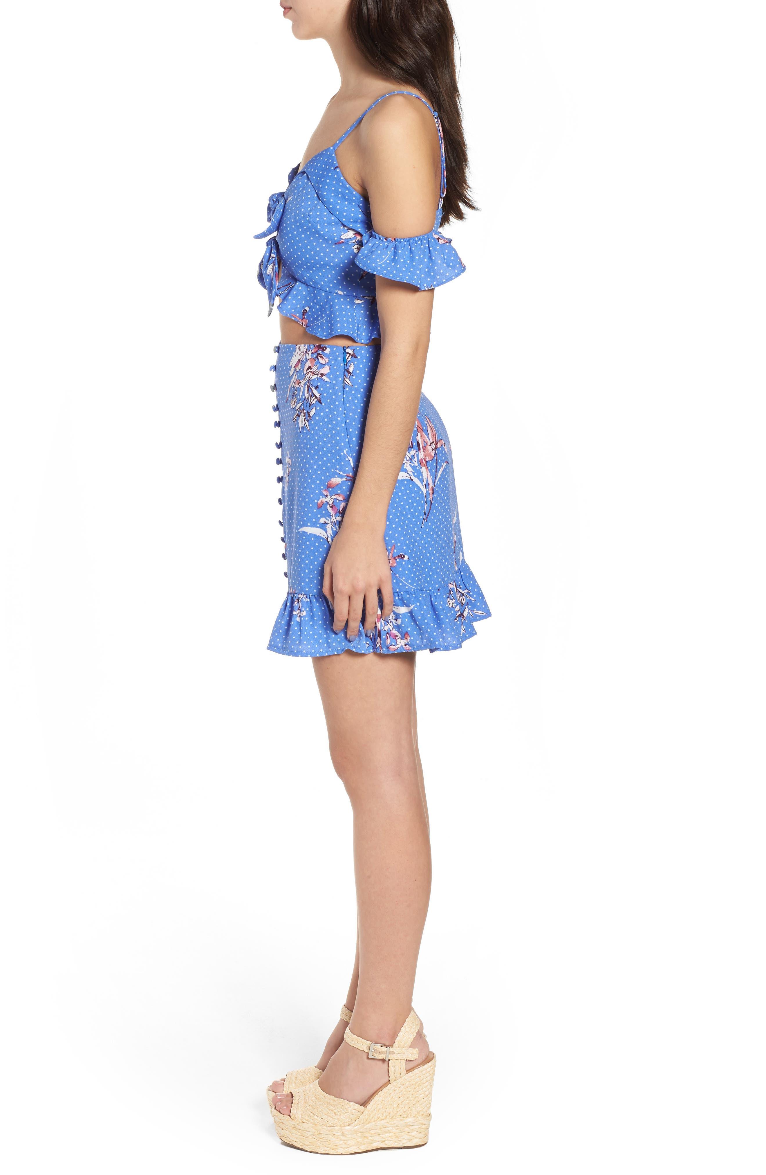 Vanessa Ruffle Hem Skirt,                             Alternate thumbnail 9, color,                             430
