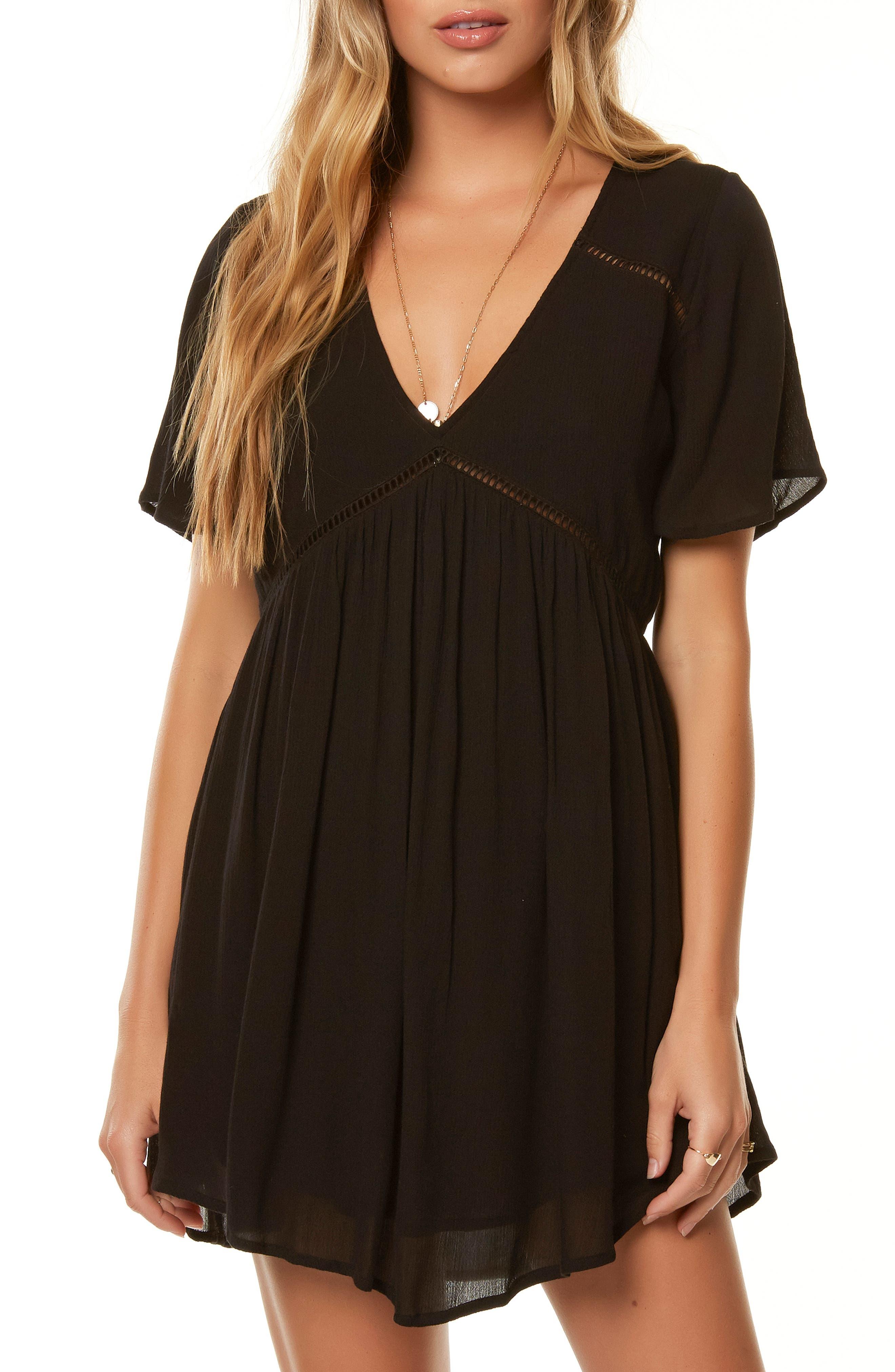 O'NEILL Naples Ladder Stitch Dress, Main, color, 001