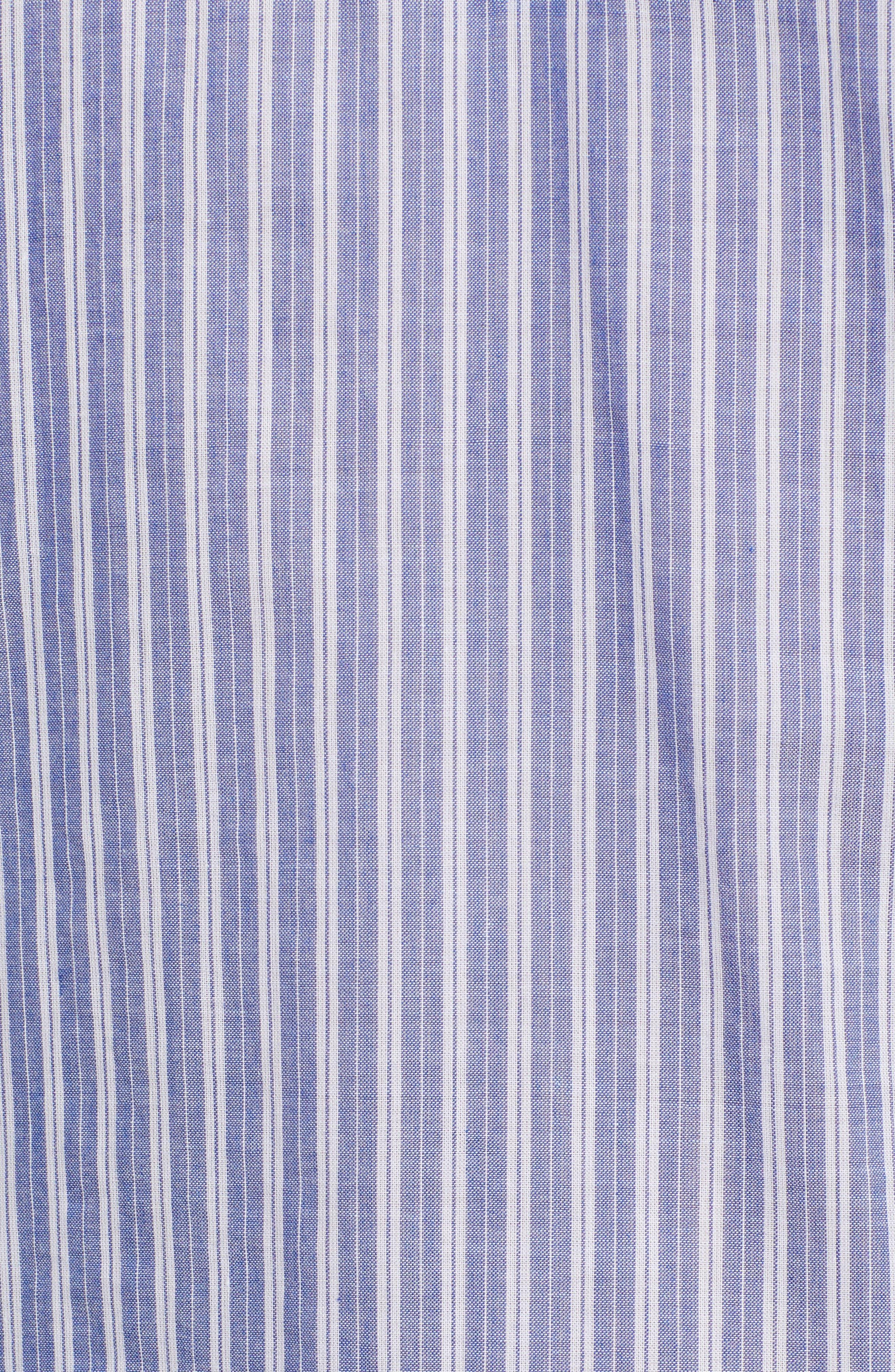 Removable Neckerchief Pinstripe Cotton Blouse,                             Alternate thumbnail 6, color,                             464