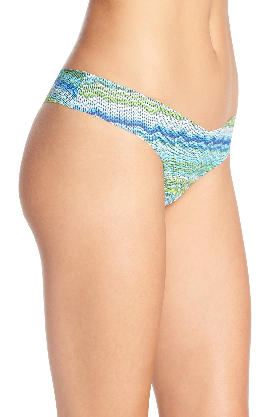 Print Microfiber Thong,                             Alternate thumbnail 154, color,