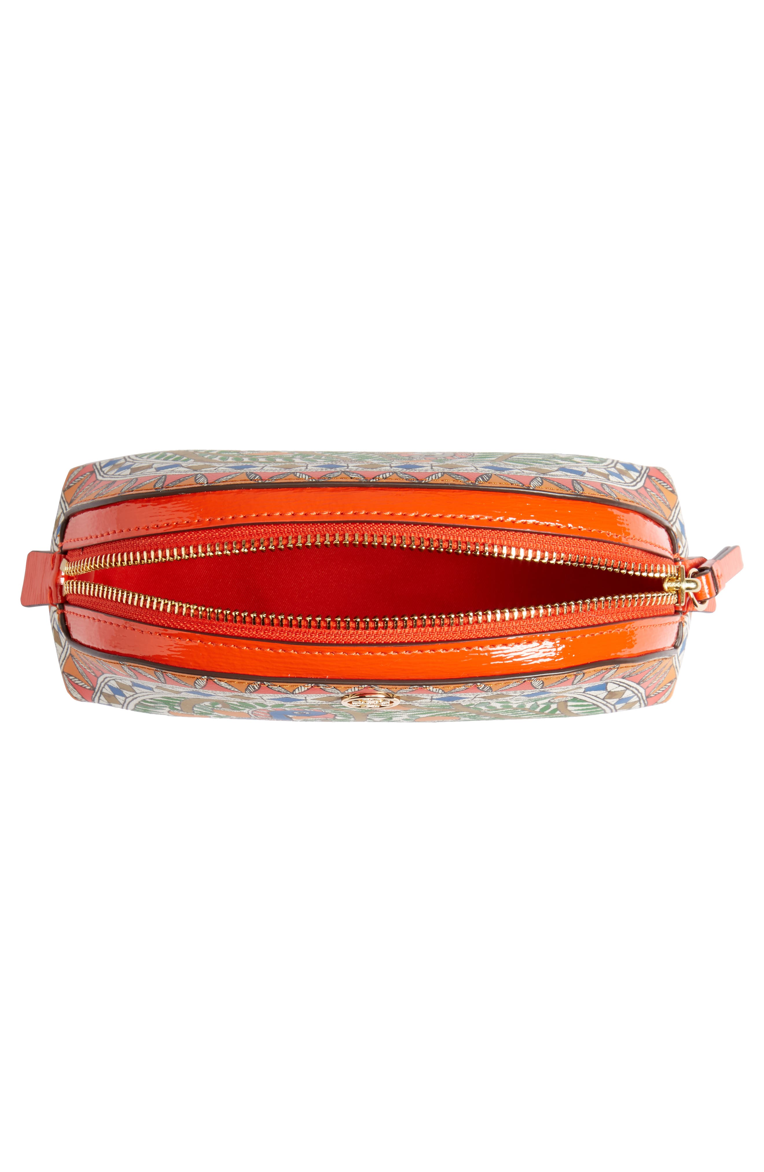 TORY BURCH,                             Small Robinson Cosmetic Case,                             Alternate thumbnail 3, color,                             SOMETHING WILD