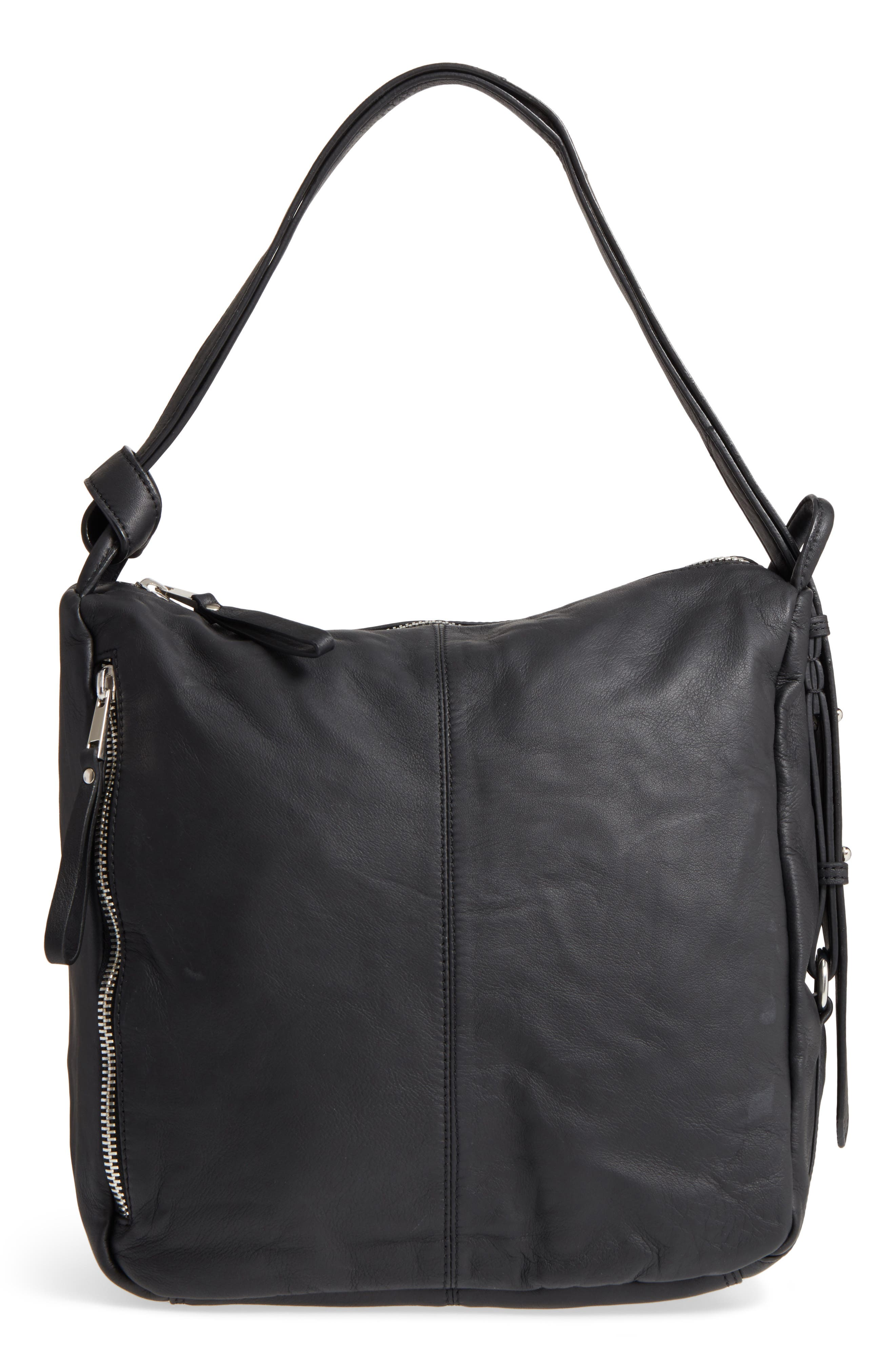 Premium Leather Sling Shoulder Bag,                         Main,                         color, 001