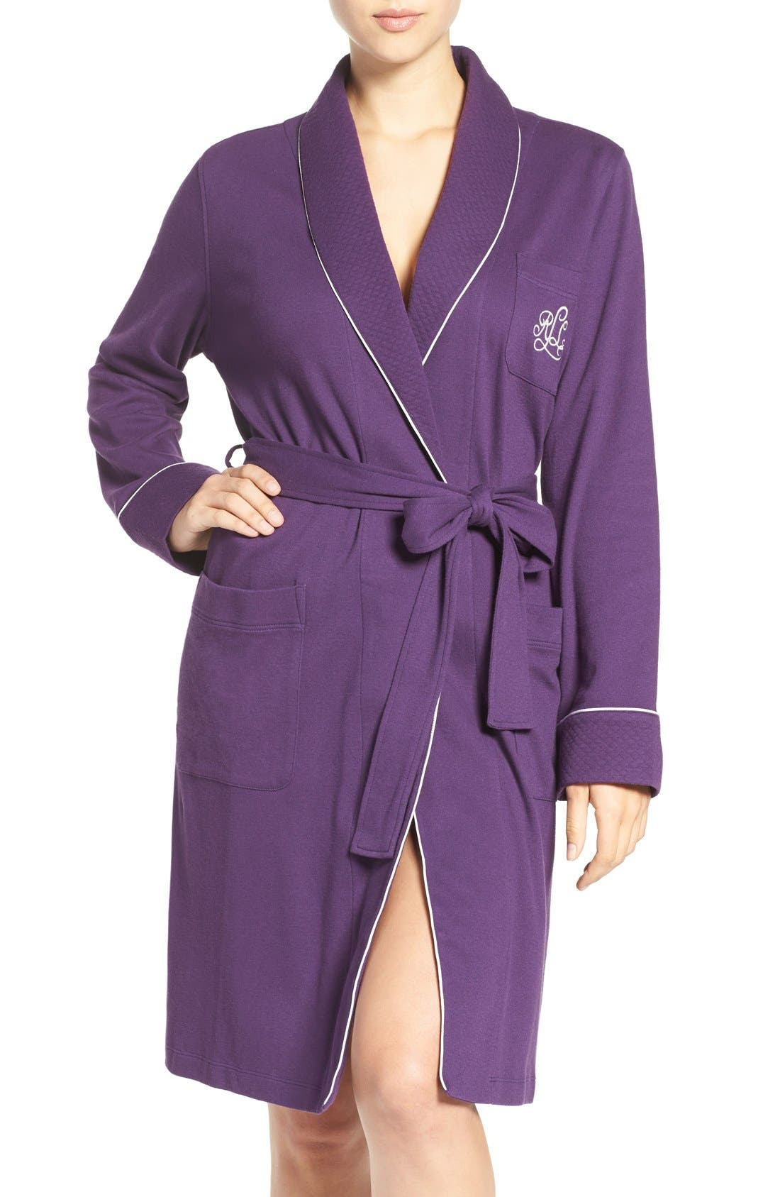 Quilted Collar Robe,                             Main thumbnail 12, color,