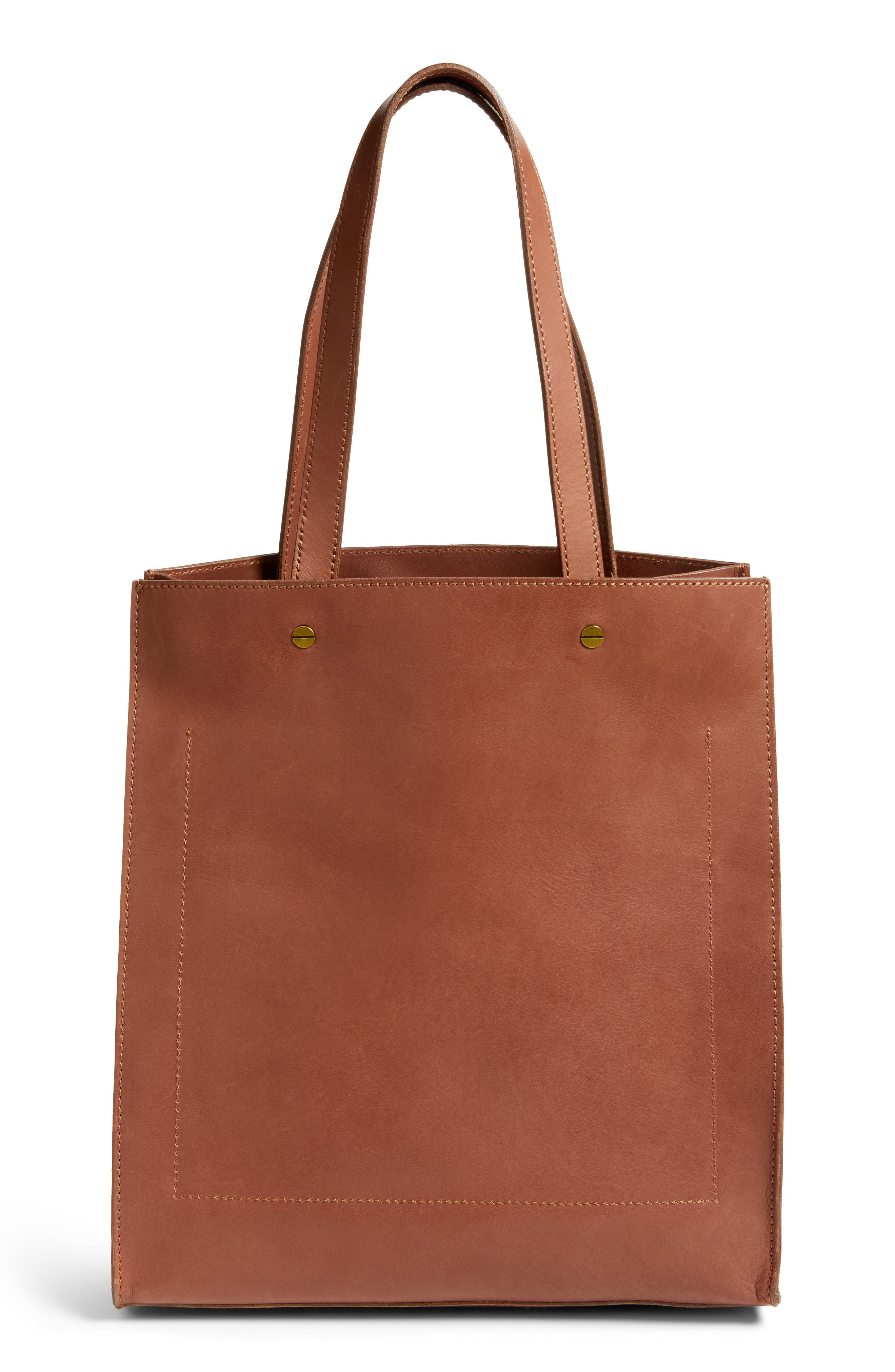 The Passenger Convertible Leather Tote,                             Alternate thumbnail 6, color,