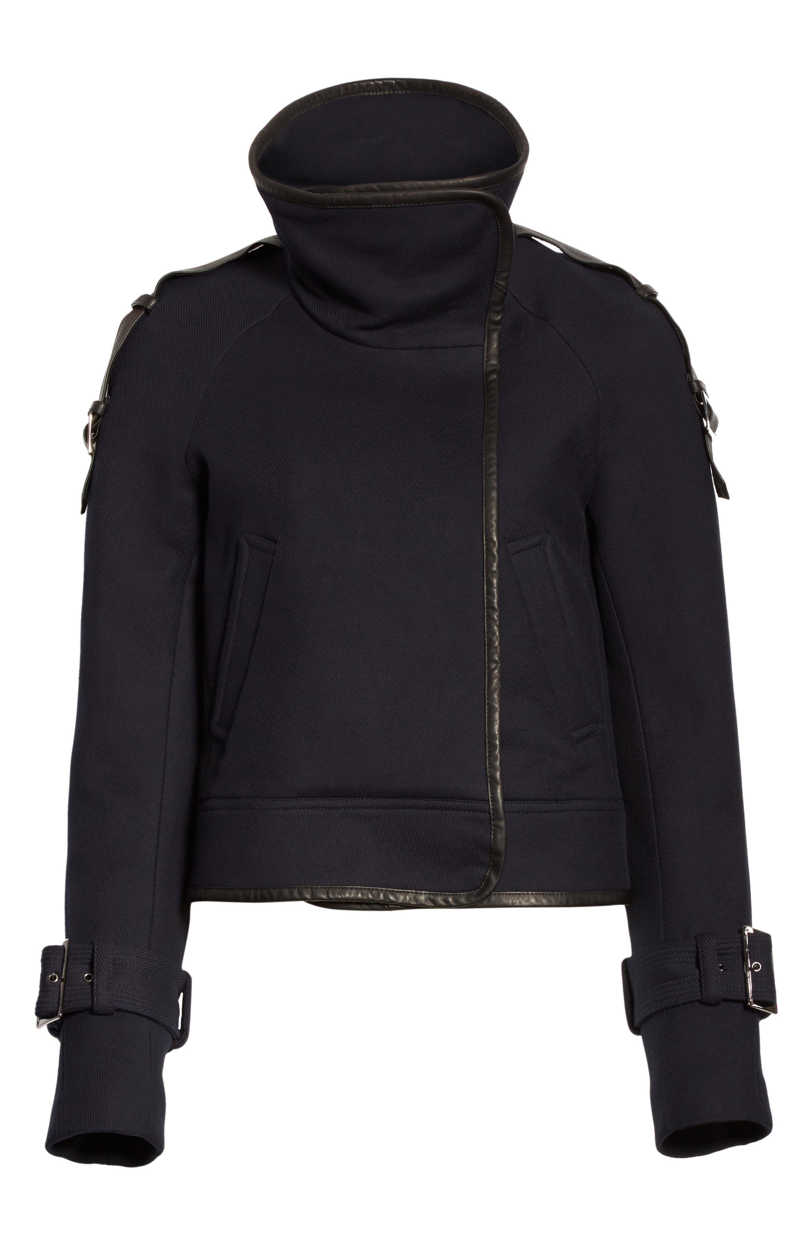 Lafayette Leather Trim Snap Jacket,                             Alternate thumbnail 5, color,                             410