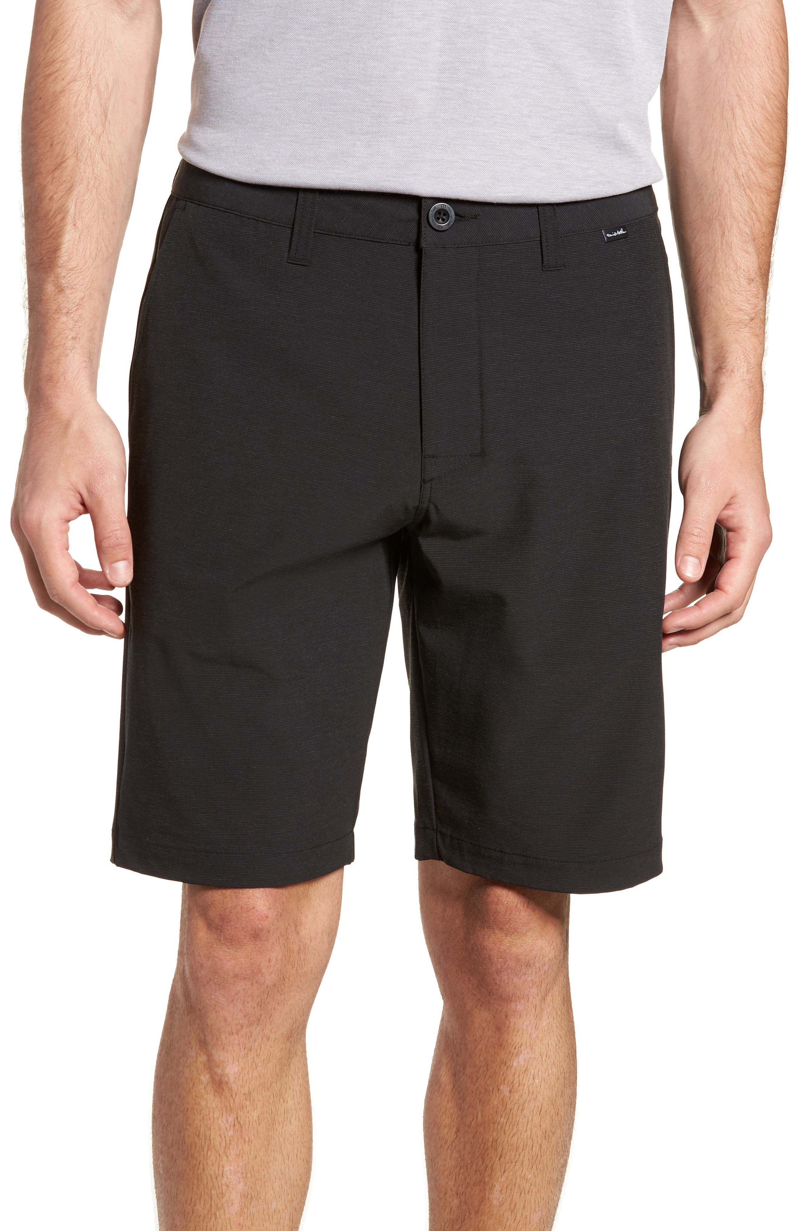Beck Stretch Performance Shorts,                             Main thumbnail 1, color,                             BLACK