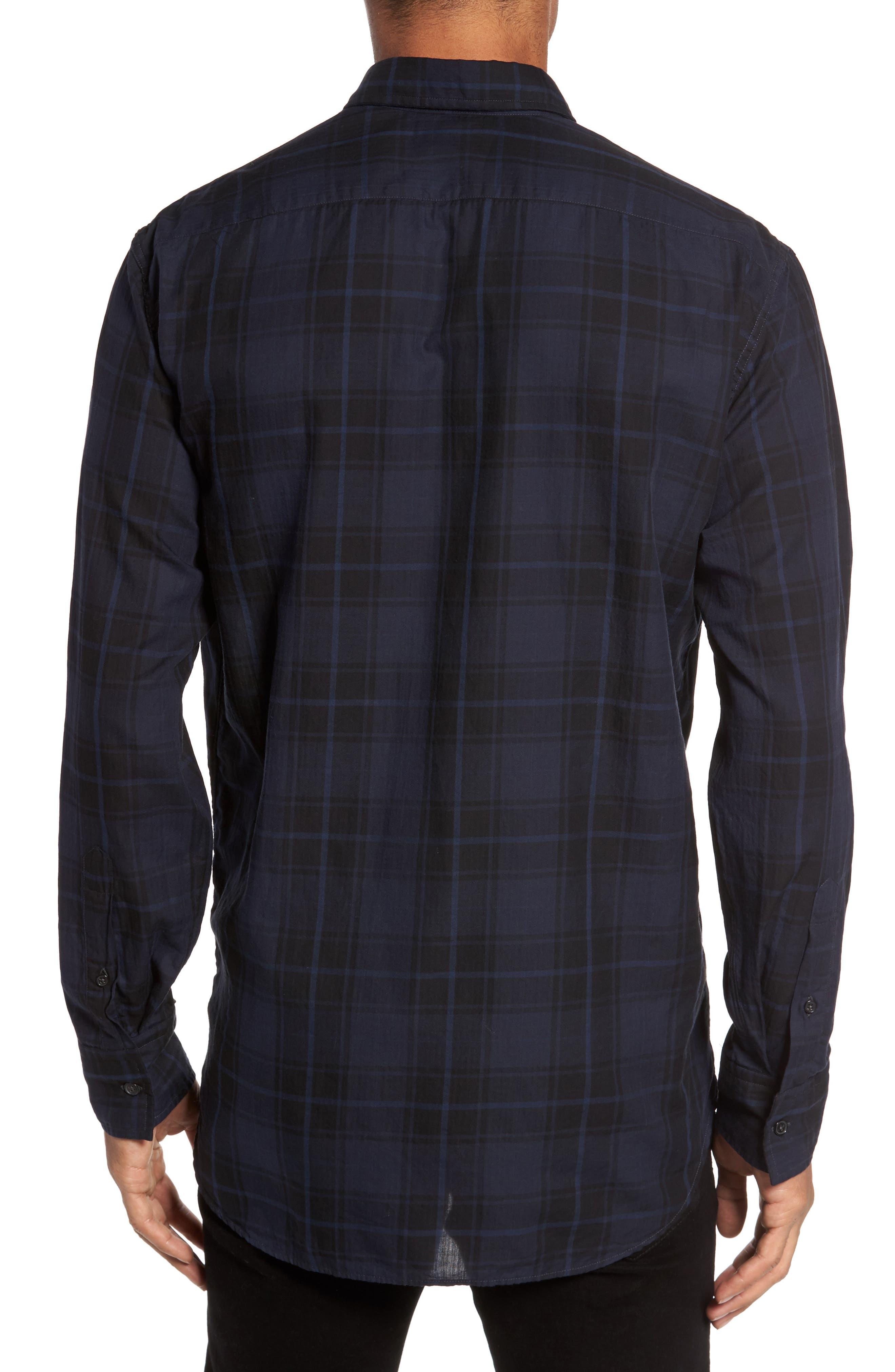 Wallace Slim Fit Sport Shirt,                             Alternate thumbnail 3, color,