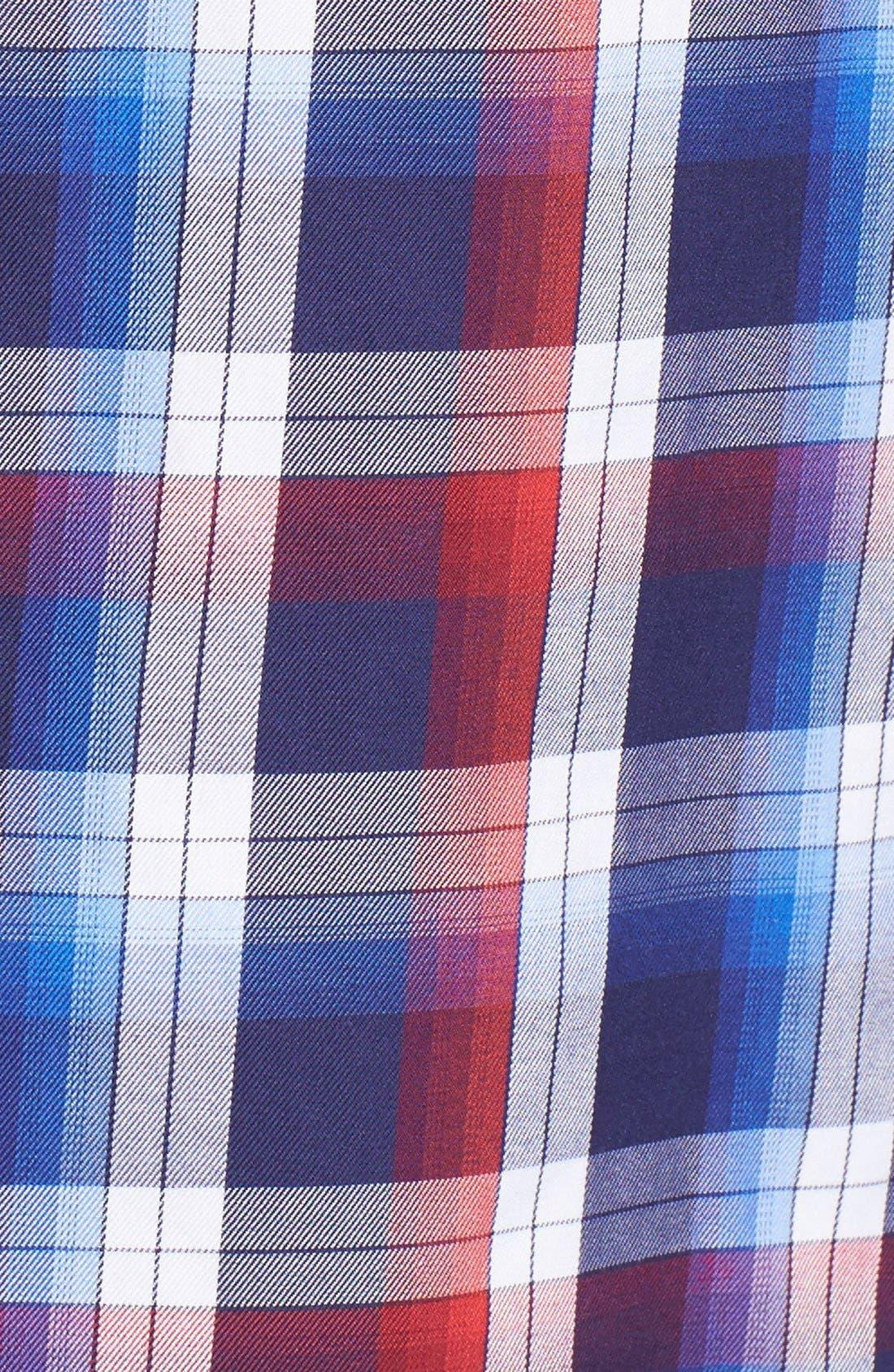 Slim Fit Plaid Sport Shirt,                             Alternate thumbnail 5, color,                             600