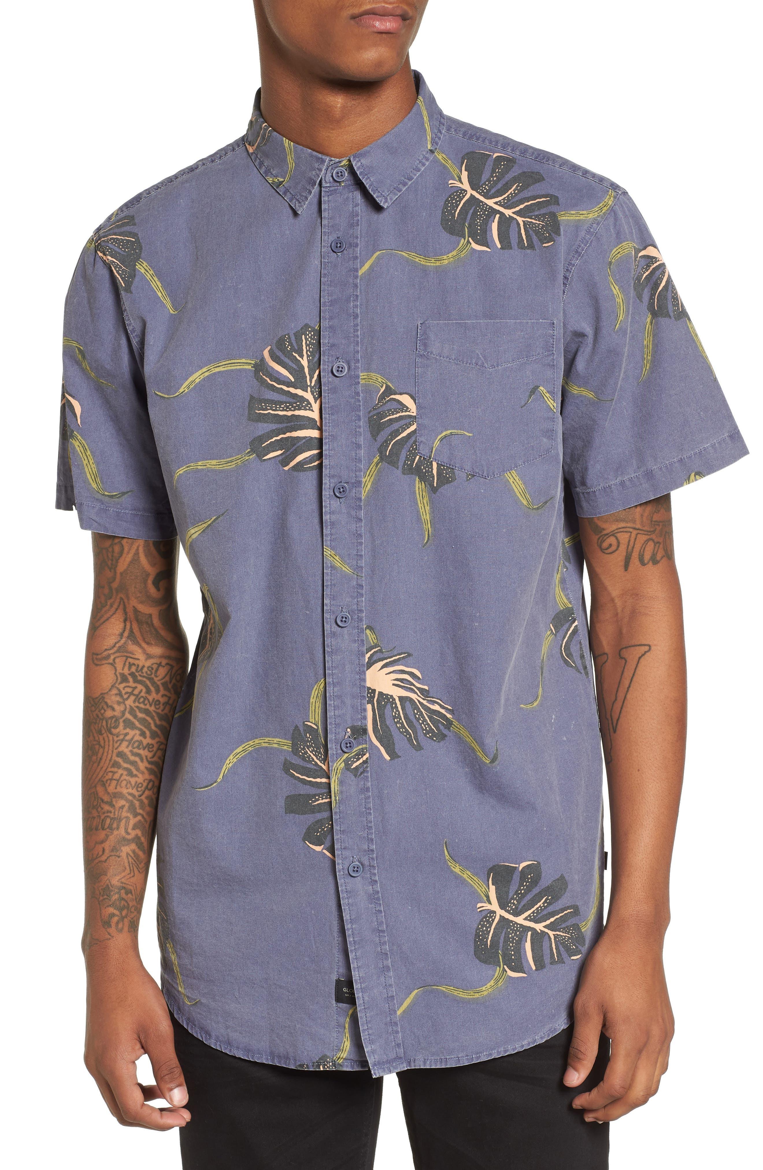 Pointer Woven Shirt,                             Main thumbnail 1, color,                             MOONLIGHT BLUE