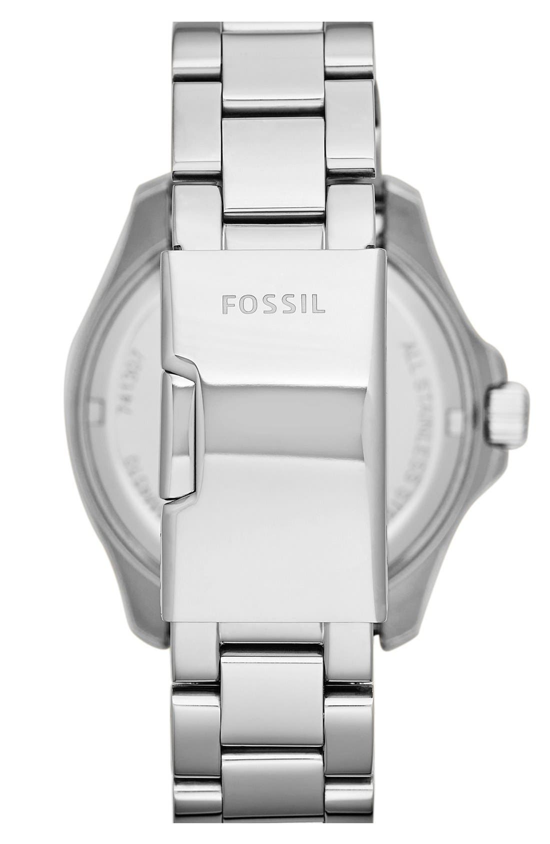 FOSSIL,                             'Cecile' Multifunction Bracelet Watch, 40mm,                             Alternate thumbnail 3, color,                             040