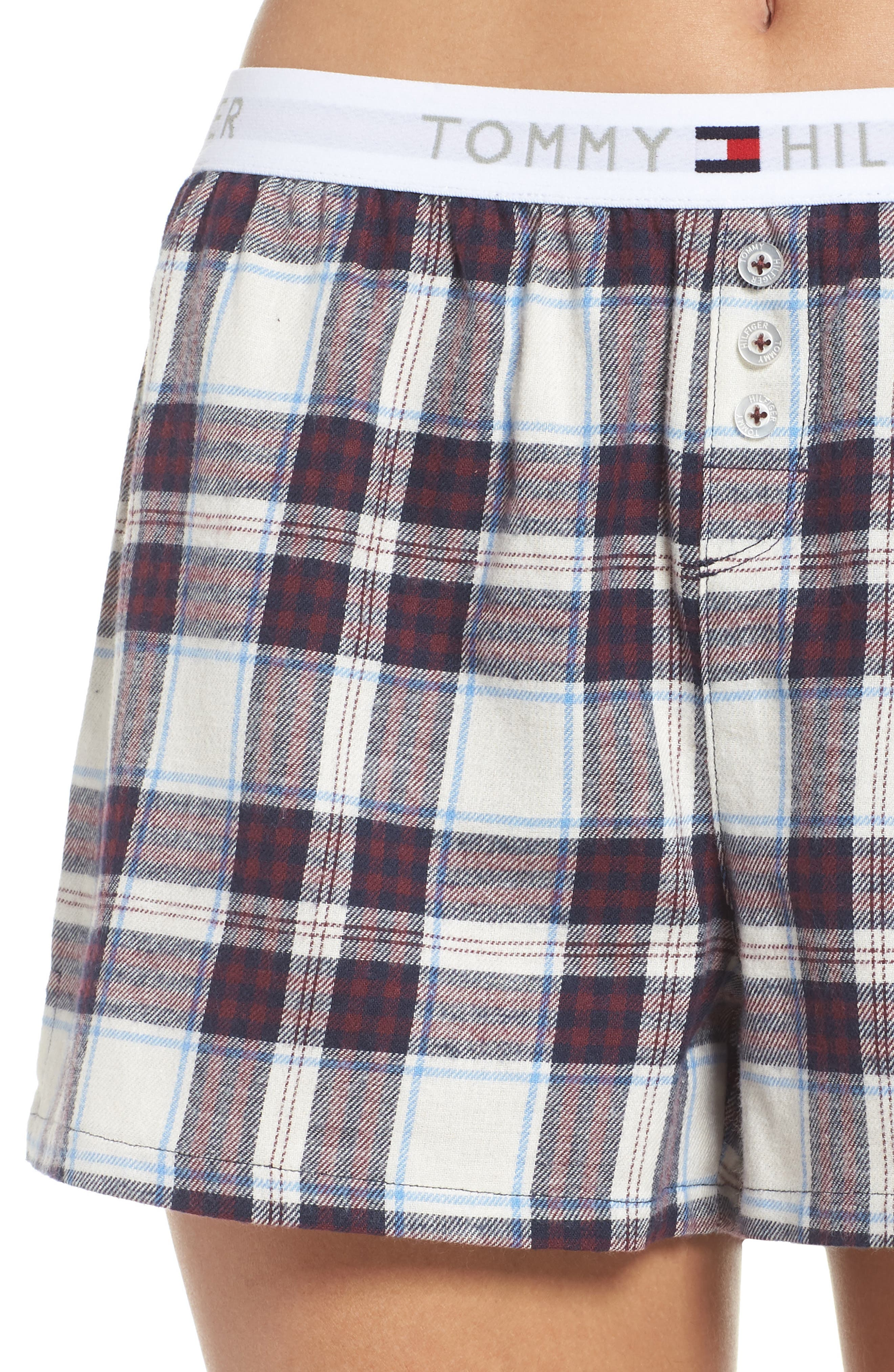 Plaid Pajama Shorts,                             Alternate thumbnail 4, color,                             SWEET DREAMS FIG TARTAN