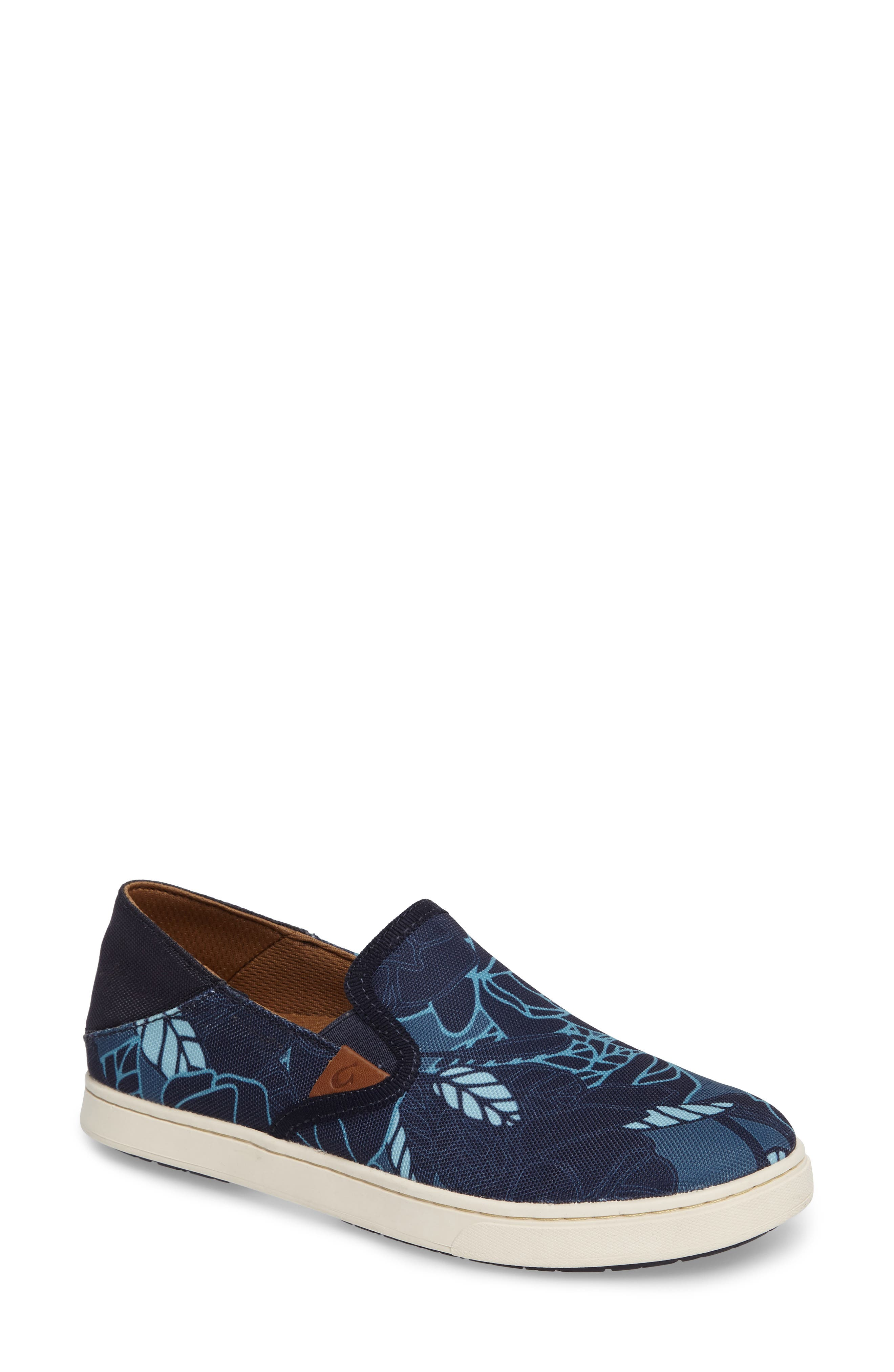 Pehuea Print Slip-On Sneaker,                             Main thumbnail 1, color,                             TRENCH BLUE/ STORMY BLUE