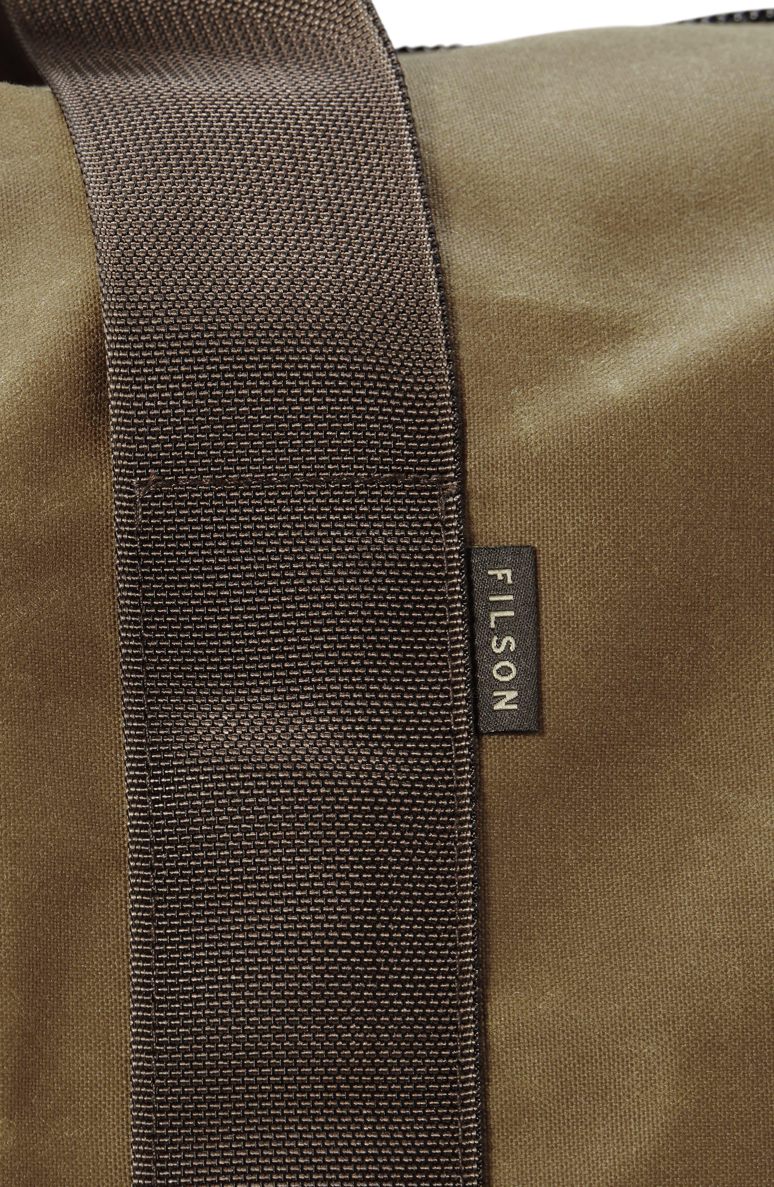 Medium Field Duffel Bag,                             Alternate thumbnail 4, color,                             DARK TAN