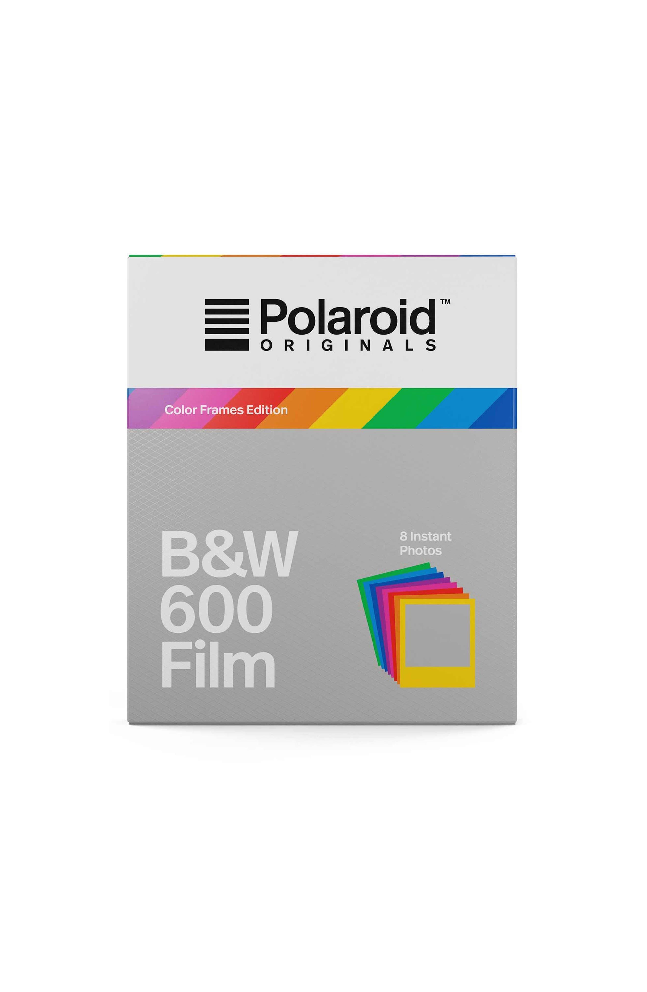 600 Multicolor Frame Black & White Instant Film,                         Main,                         color, NONE