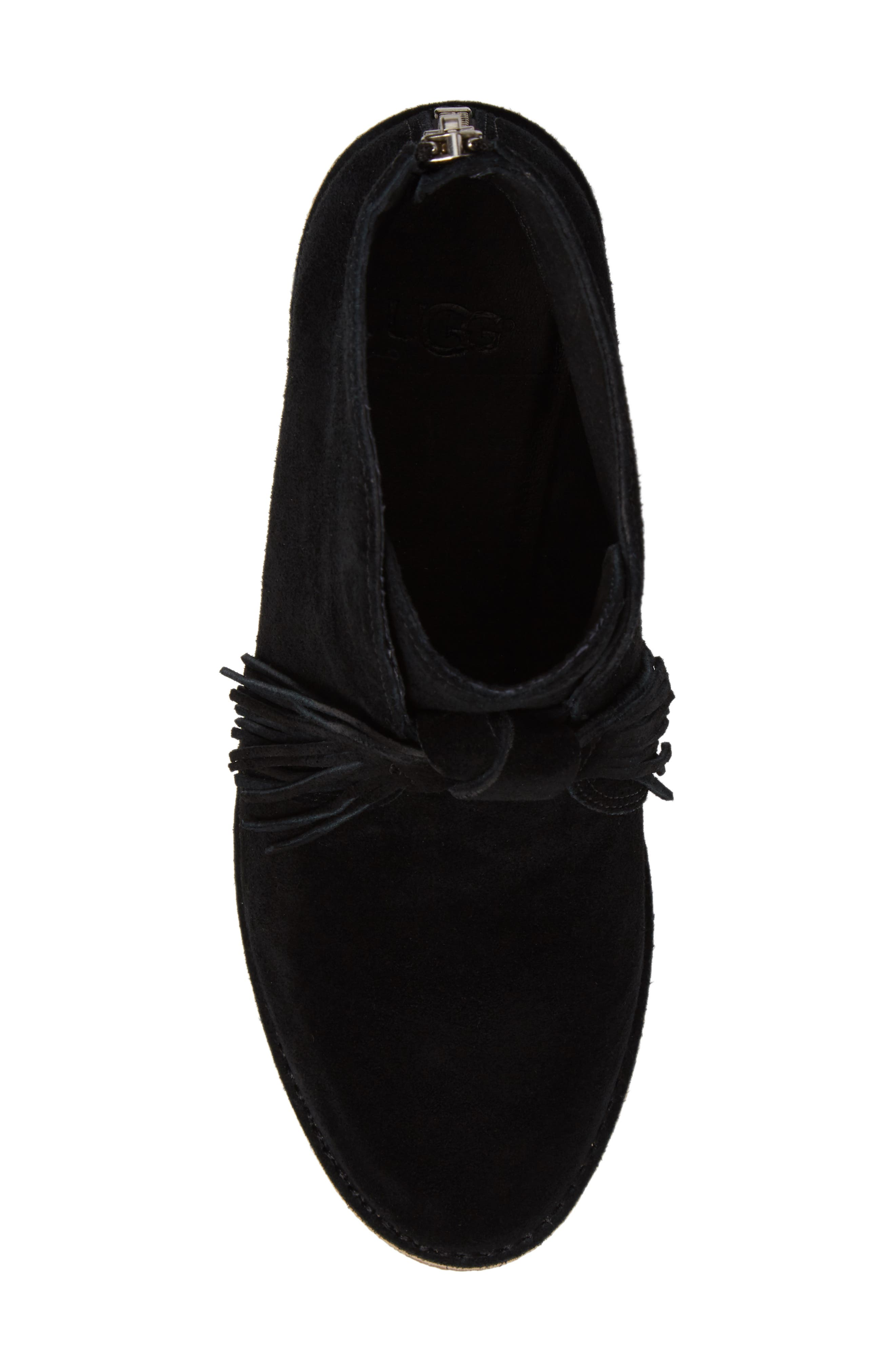 Corin Fringe Tassel Bootie,                             Alternate thumbnail 5, color,                             001
