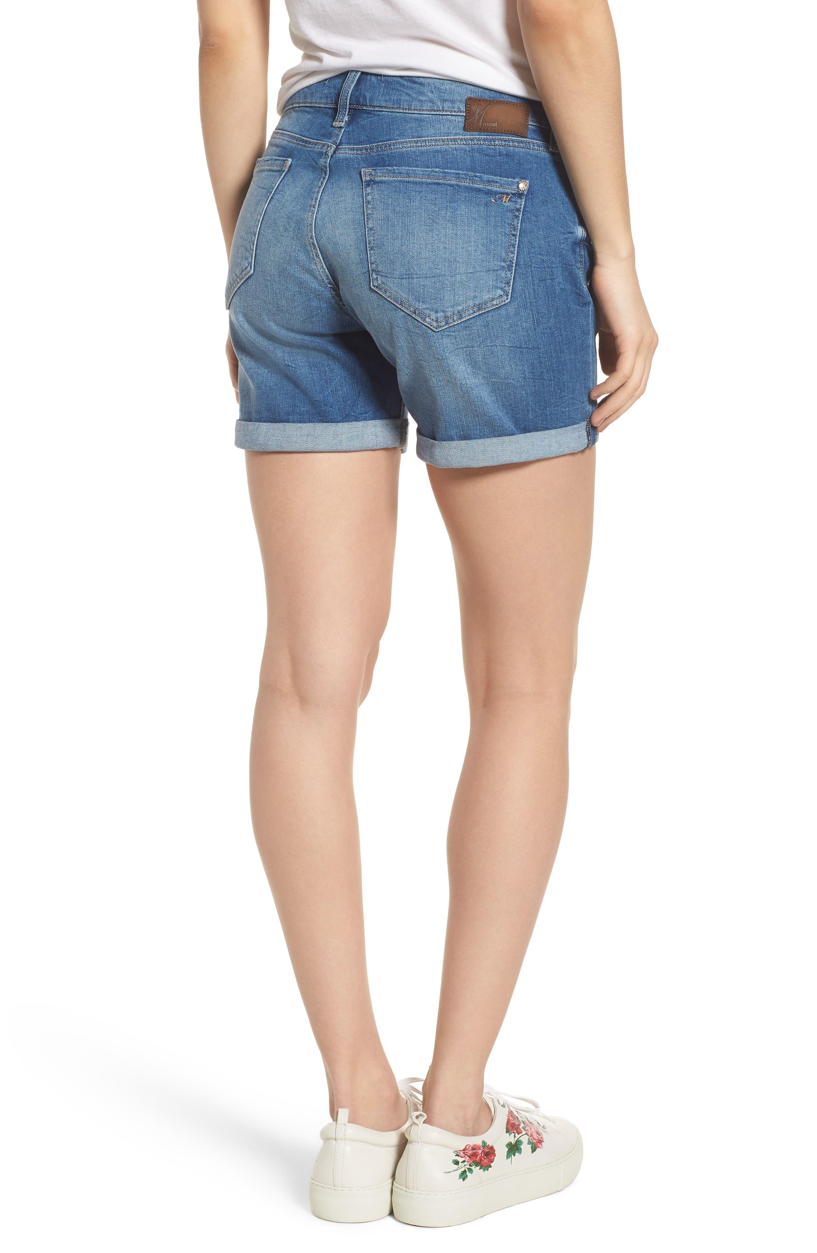 Pixie Denim Boyfriend Shorts,                             Alternate thumbnail 2, color,                             DISTRESSED VINTAGE