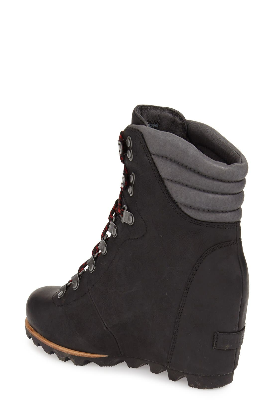 'Conquest' Waterproof Wedge Boot,                             Alternate thumbnail 3, color,                             010