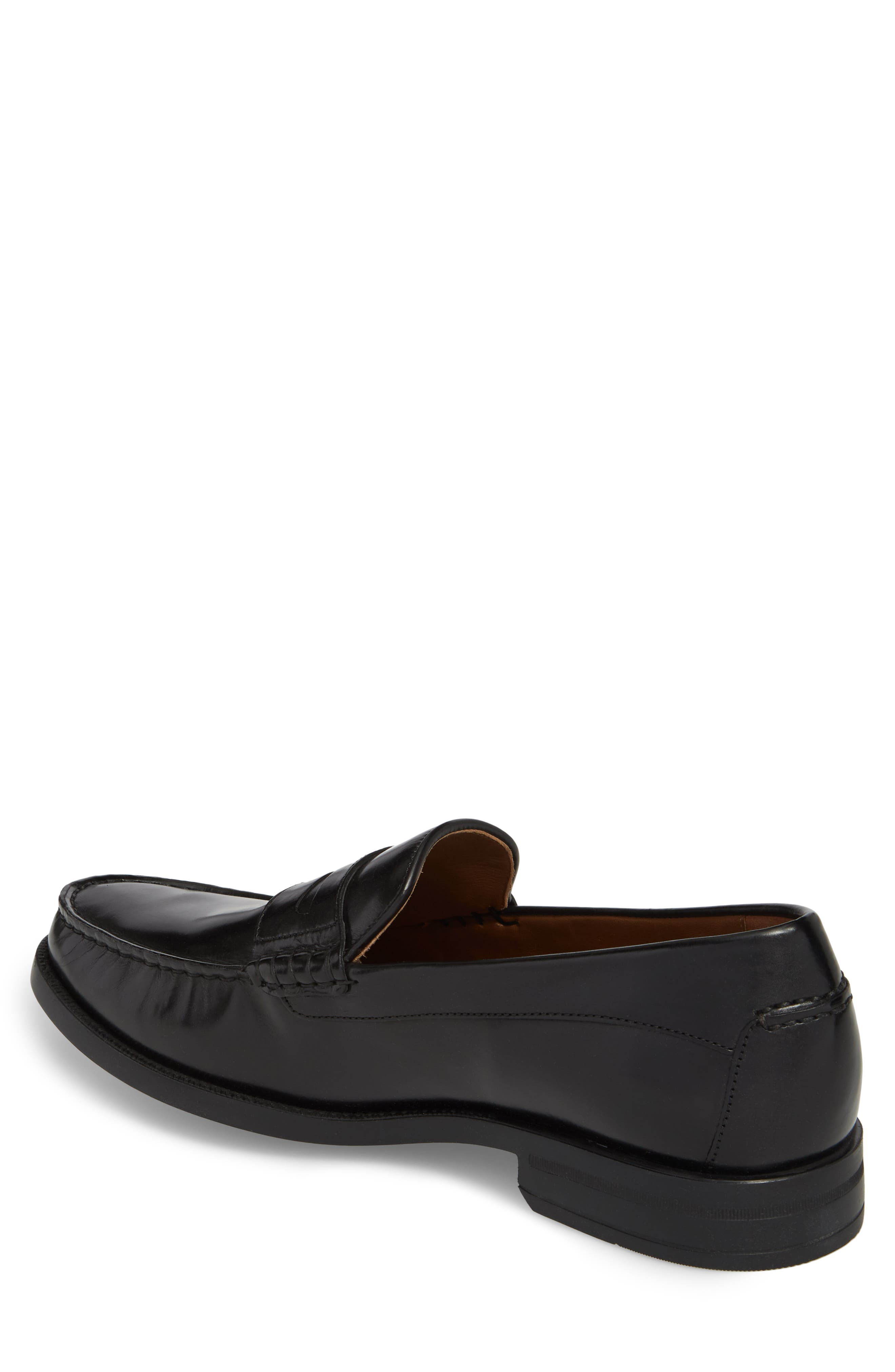 Chadwell Penny Loafer,                             Alternate thumbnail 2, color,                             BLACK LEATHER