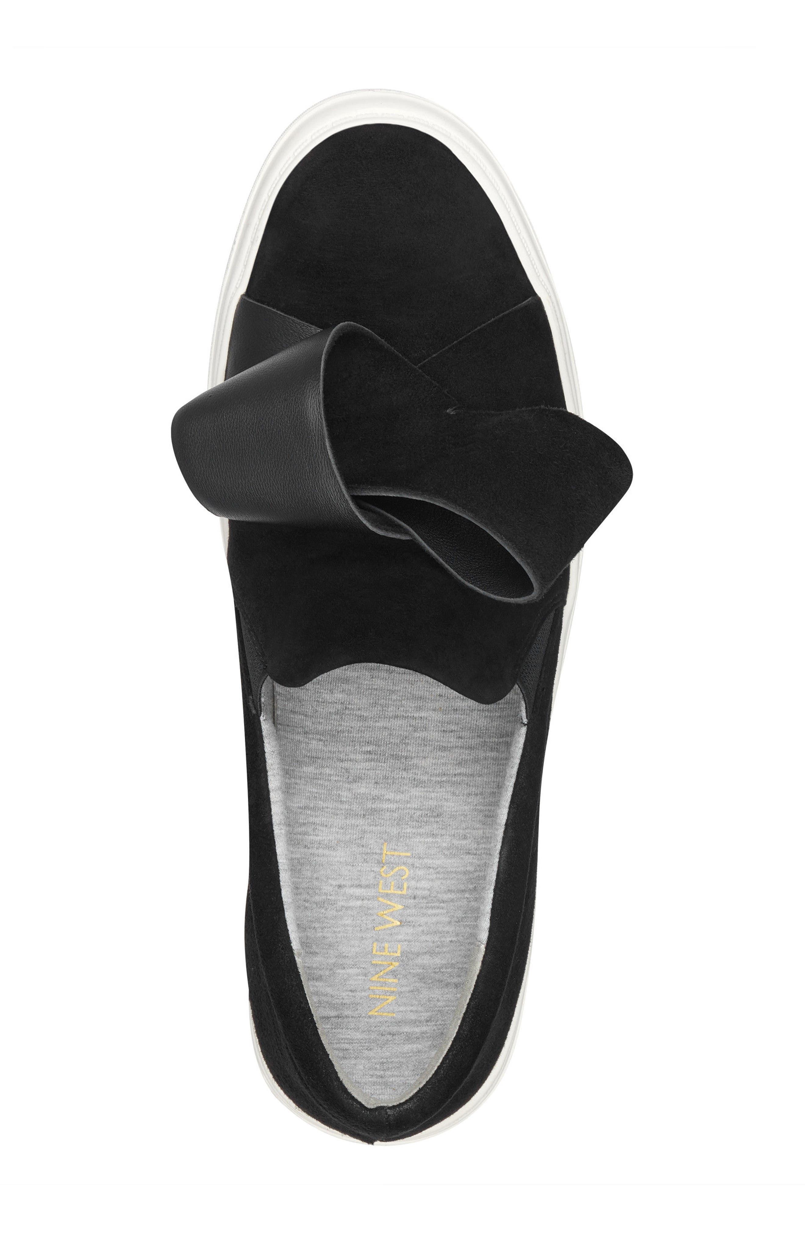 Odienella Slip-On Sneaker,                             Alternate thumbnail 5, color,                             BLACK MULTI SUEDE