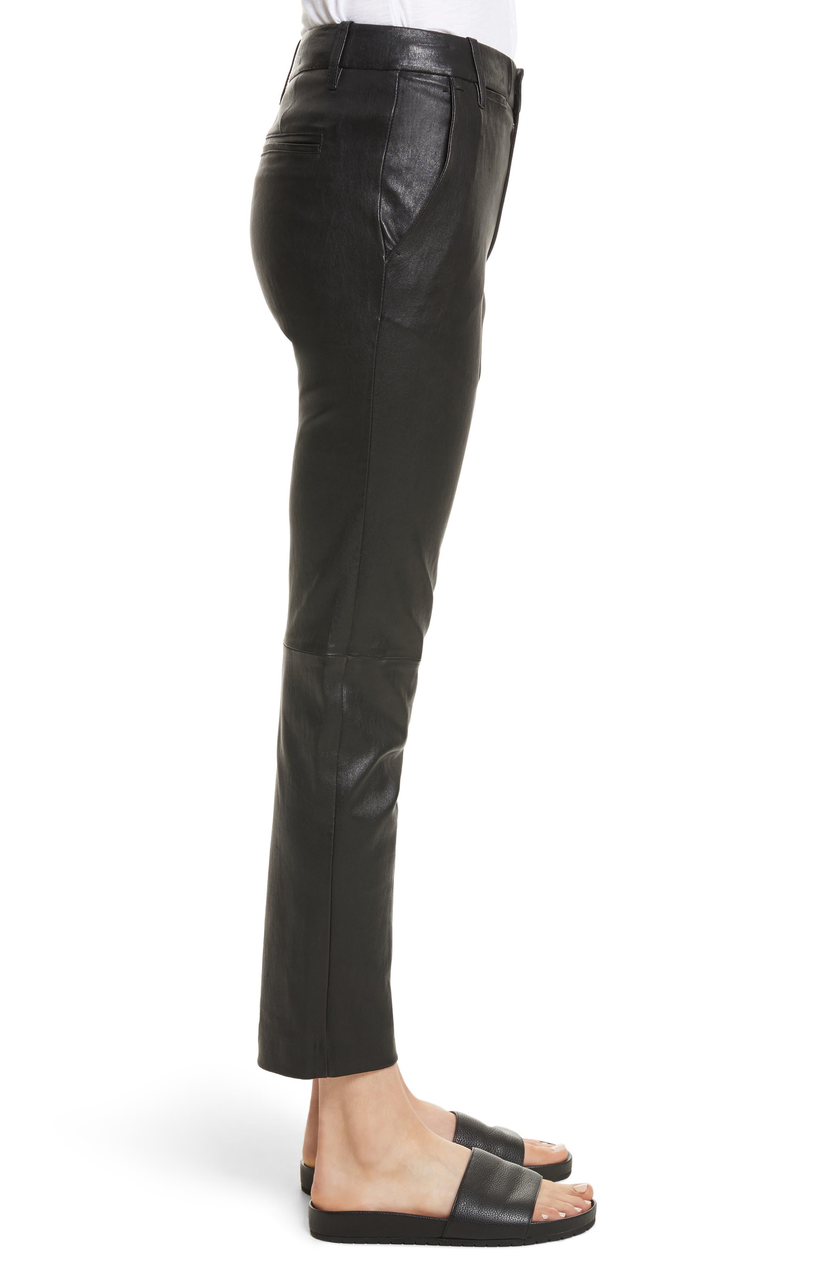 Leather Pants,                             Alternate thumbnail 3, color,