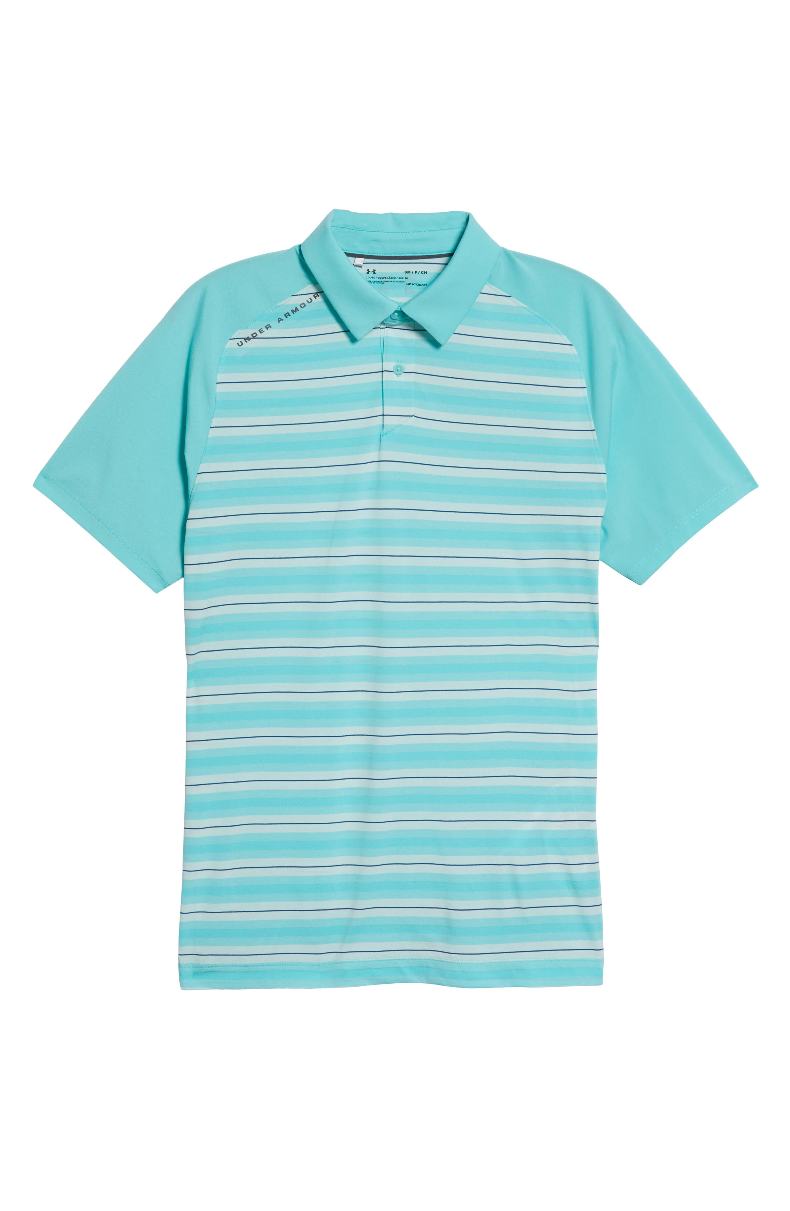 Threadborne Boundless Regular Fit Polo Shirt,                             Alternate thumbnail 6, color,                             TROPICAL TIDE/ RHINO GREY