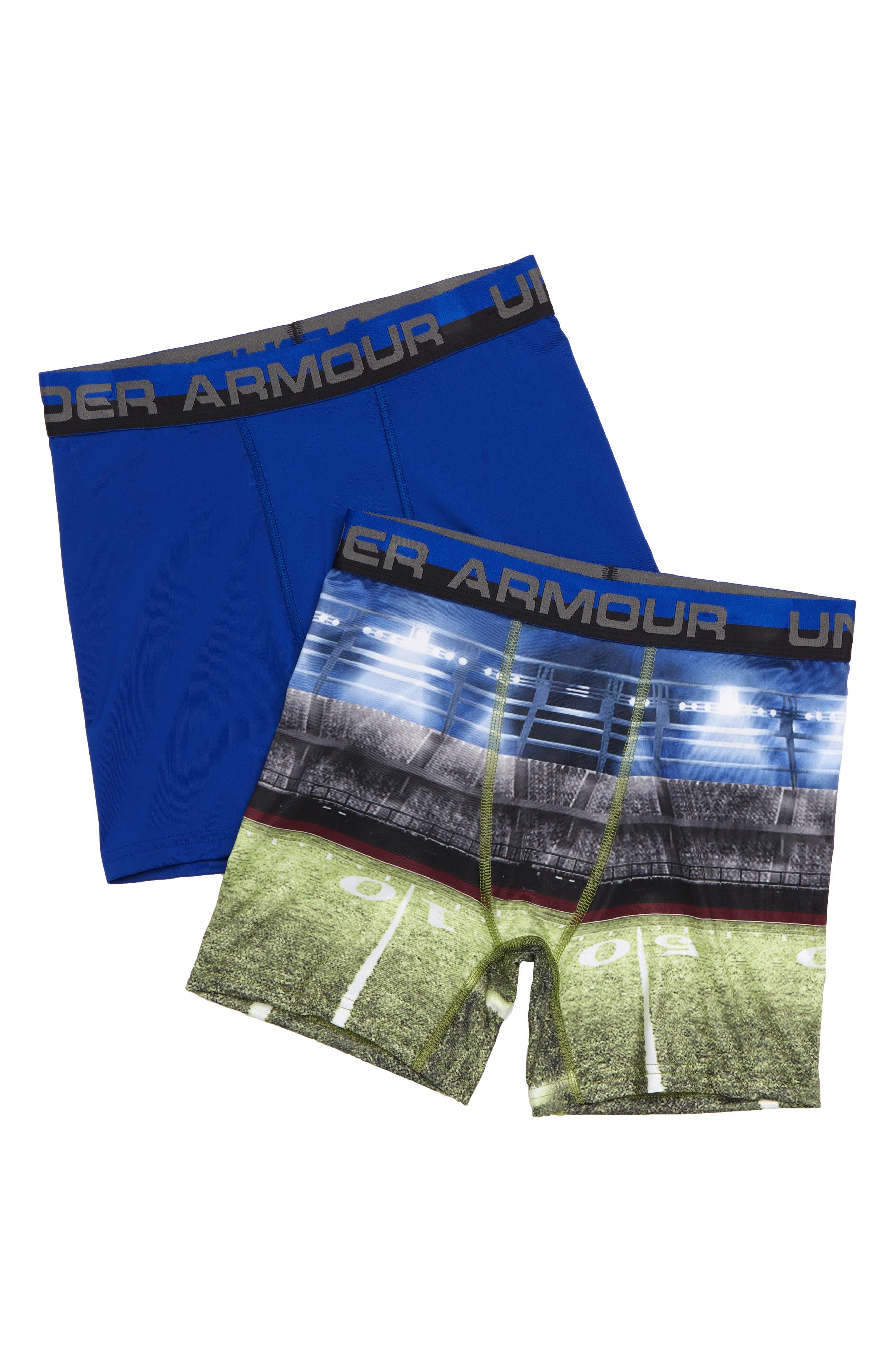 Boxerjock<sup>®</sup> 2-Pack Performance HeatGear<sup>®</sup> Boxer Briefs,                             Main thumbnail 1, color,                             SUBLIMATED FIEDL/ ROYAL