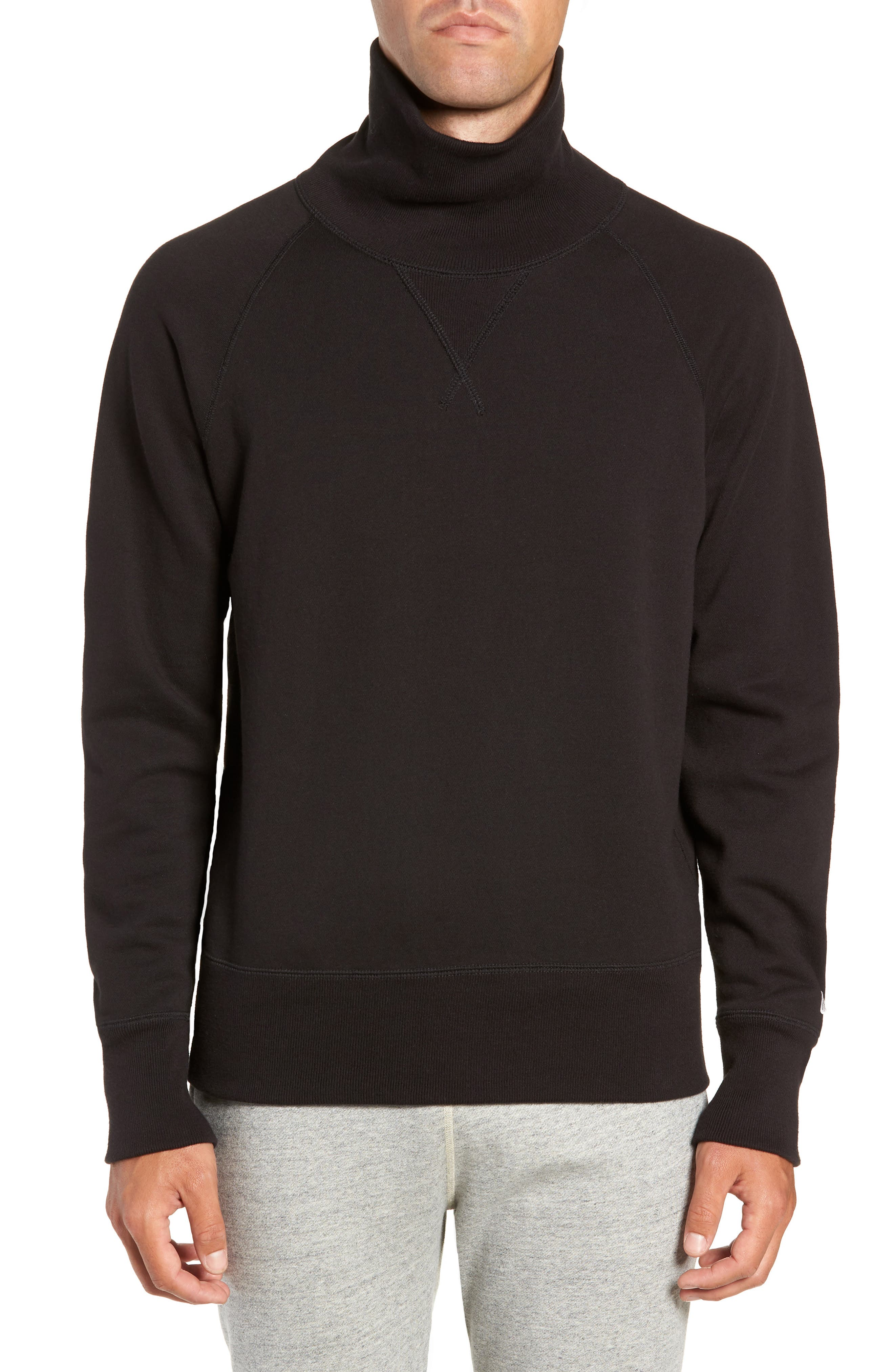 + Champion Turtleneck Sweatshirt,                         Main,                         color, 001