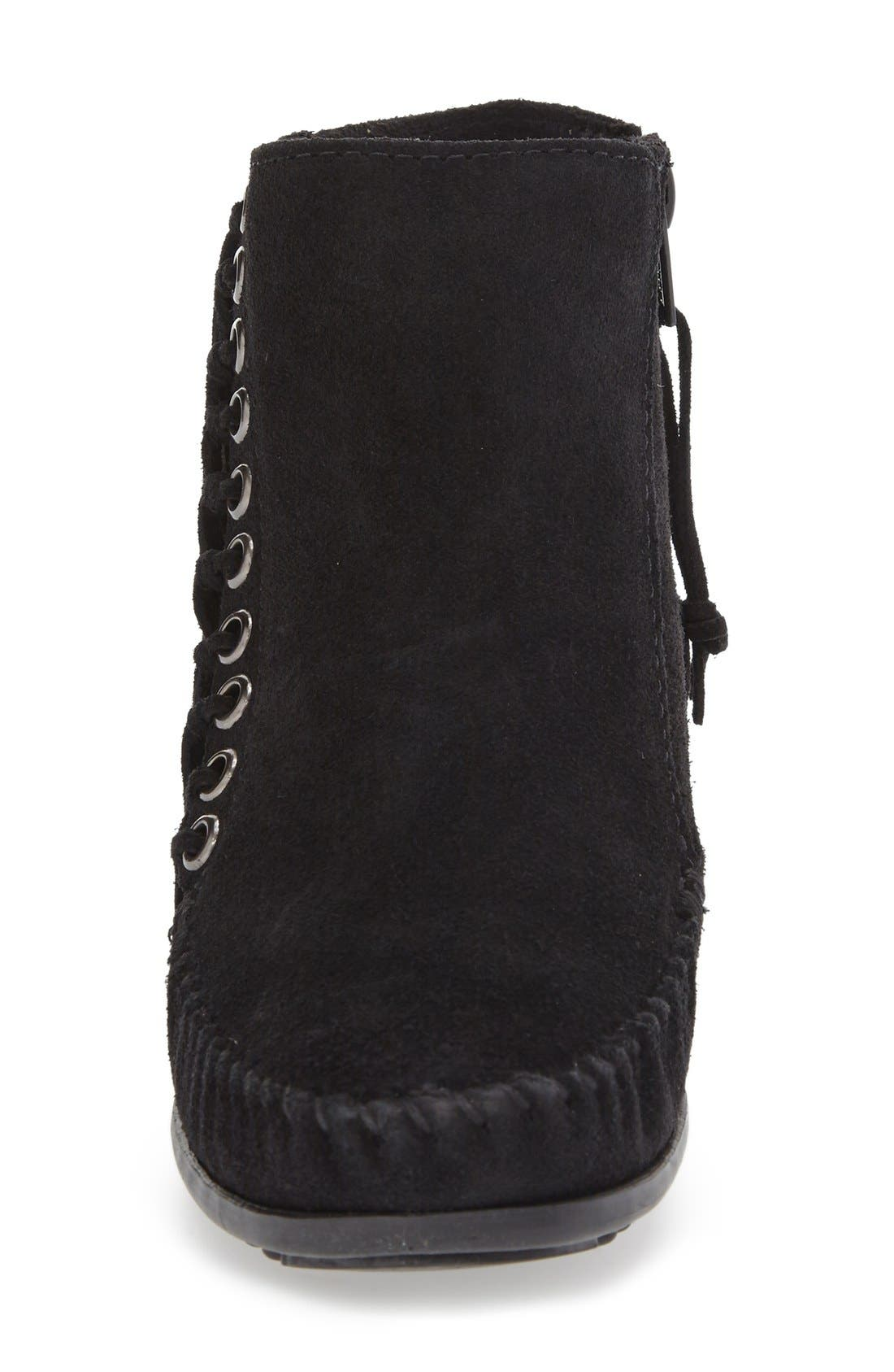 Willow Fringe Bootie,                             Alternate thumbnail 3, color,                             001