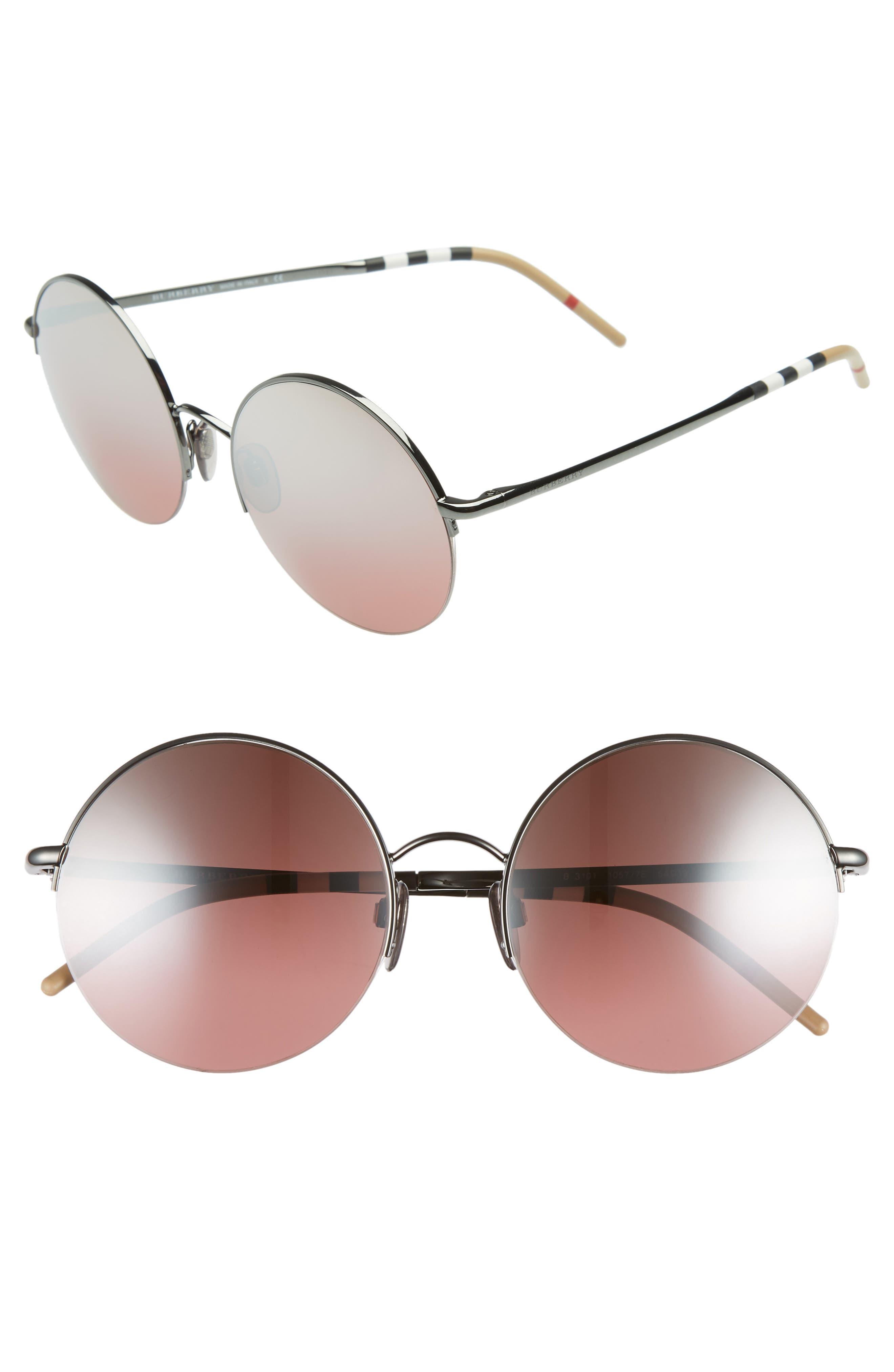 54mm Round Sunglasses,                             Main thumbnail 1, color,                             001