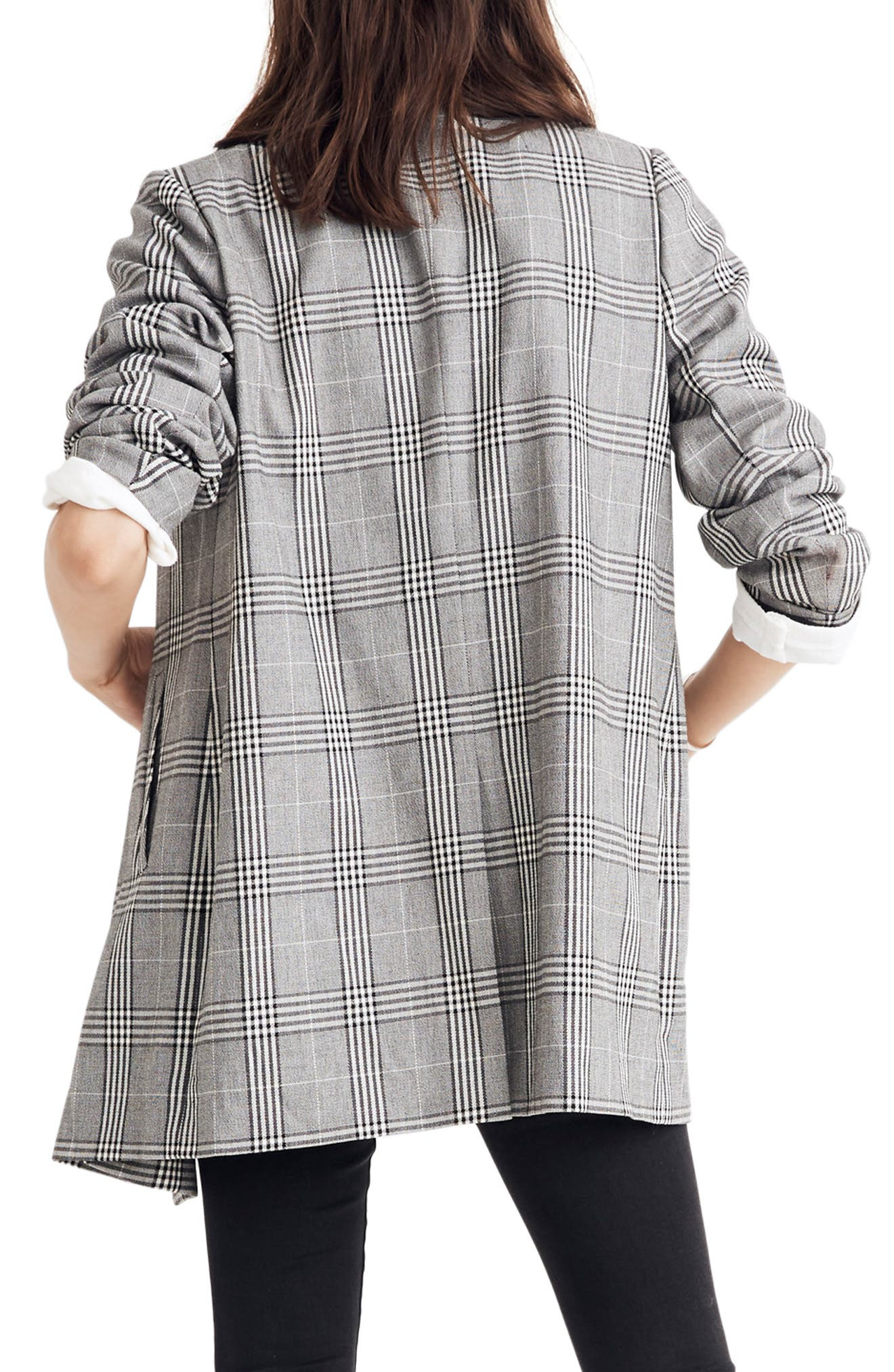 Caldwell Plaid Double Breasted Blazer,                             Alternate thumbnail 2, color,                             CLASSIC BLACK