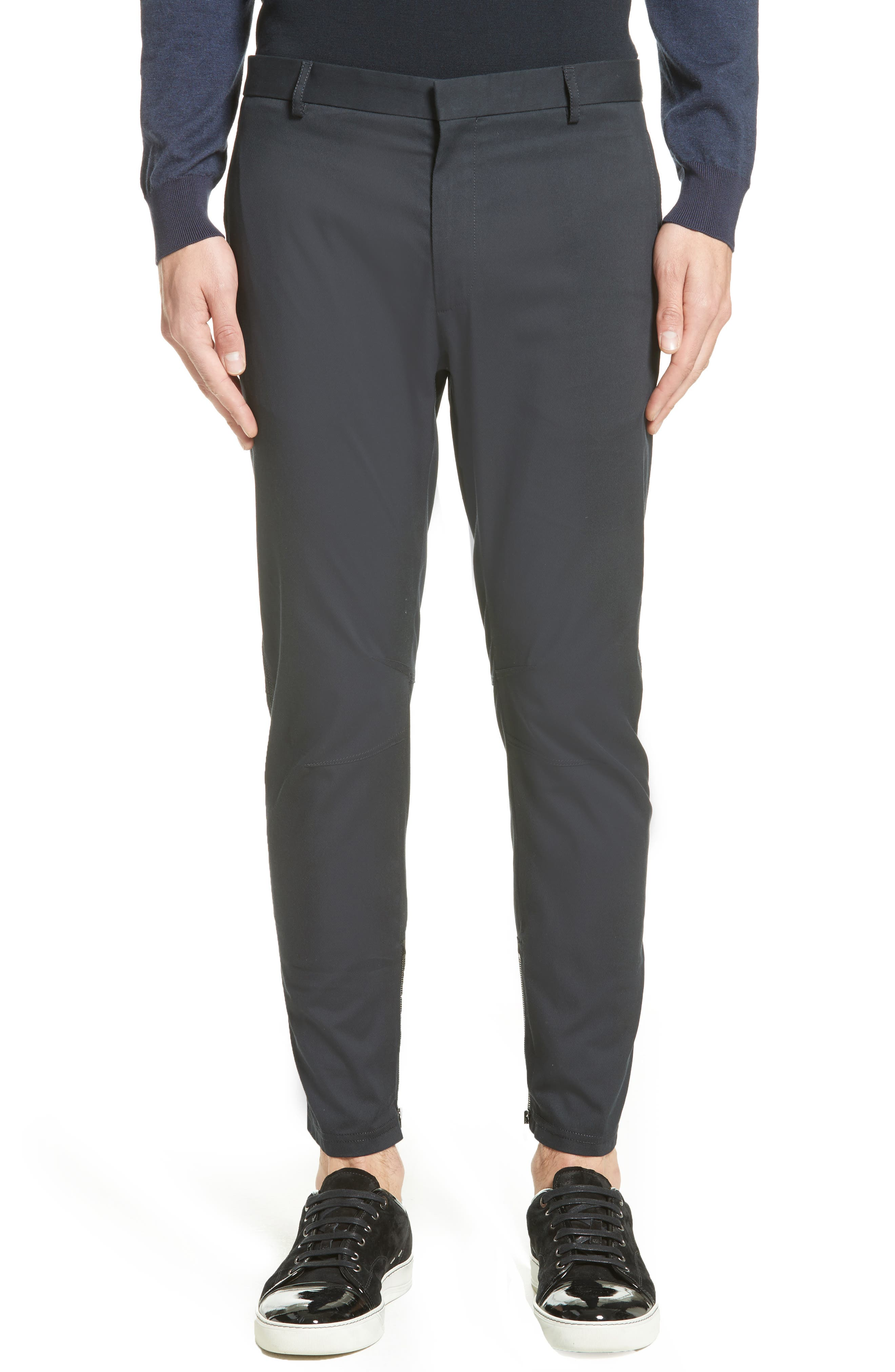 Cotton & Silk Biker Pants,                             Main thumbnail 1, color,                             429