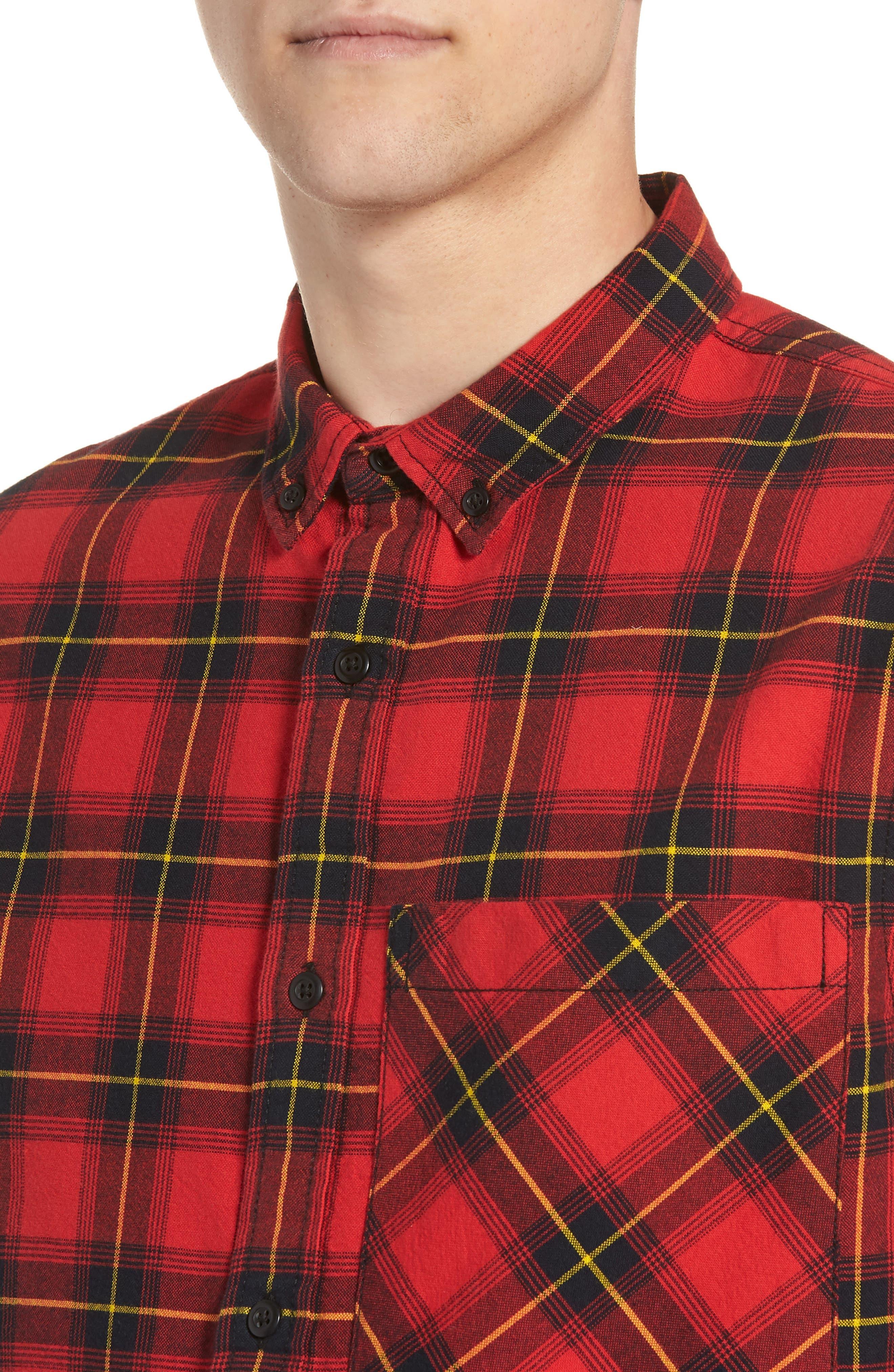 Plaid Oversize Pocket Sport Shirt,                             Alternate thumbnail 4, color,                             610