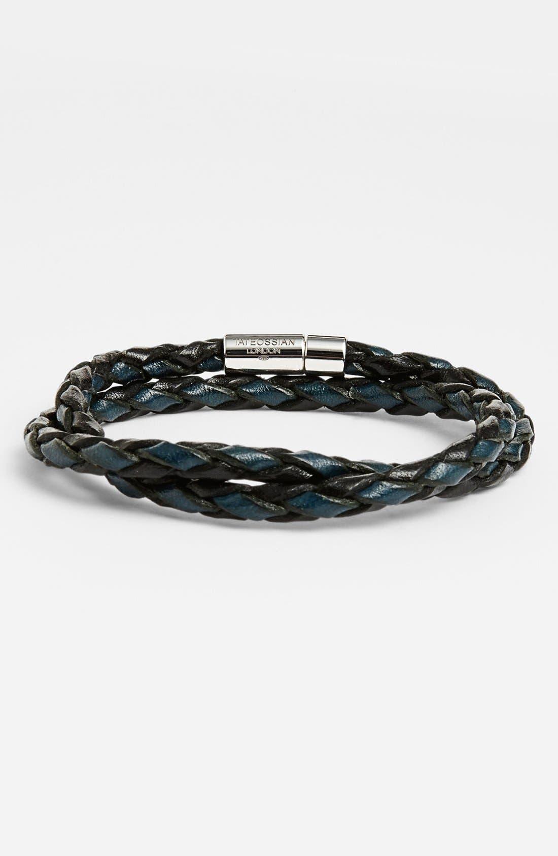 Scoubidou Bracelet,                             Main thumbnail 1, color,                             BLUE