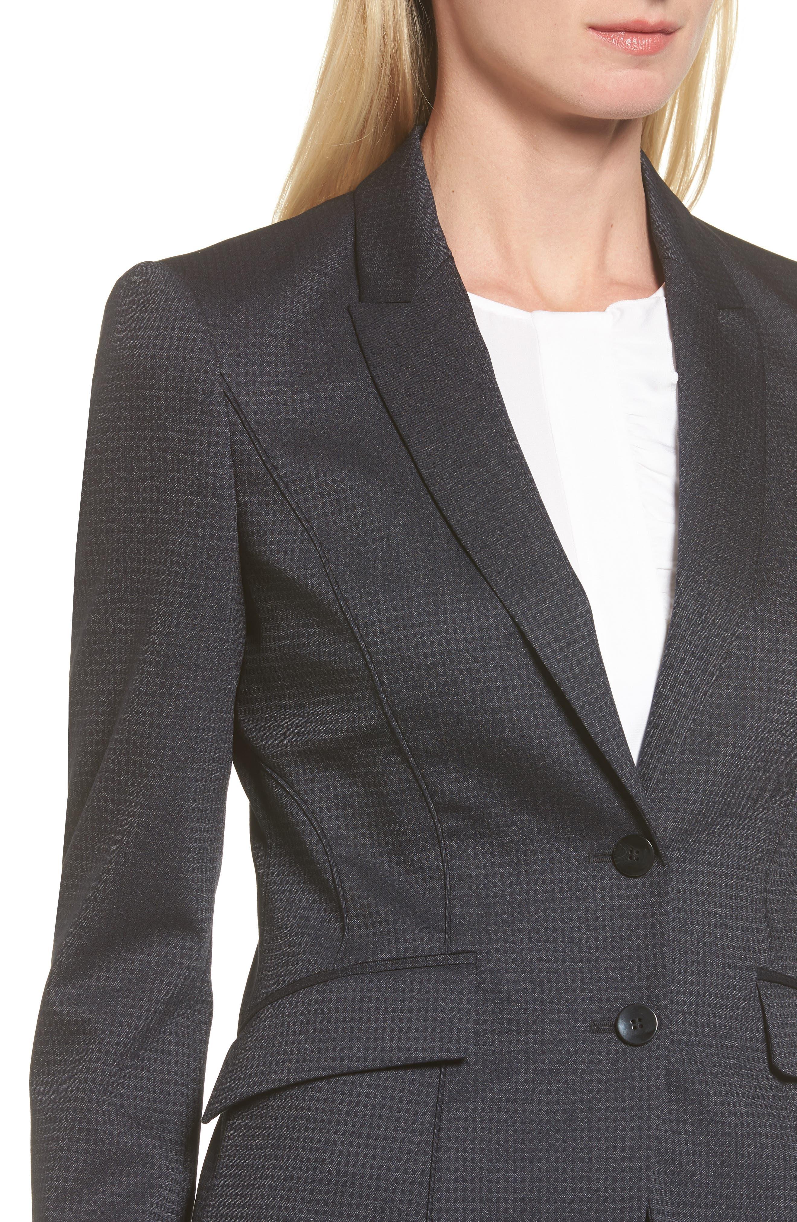 Jukani Check Wool Blend Suit Jacket,                             Alternate thumbnail 8, color,