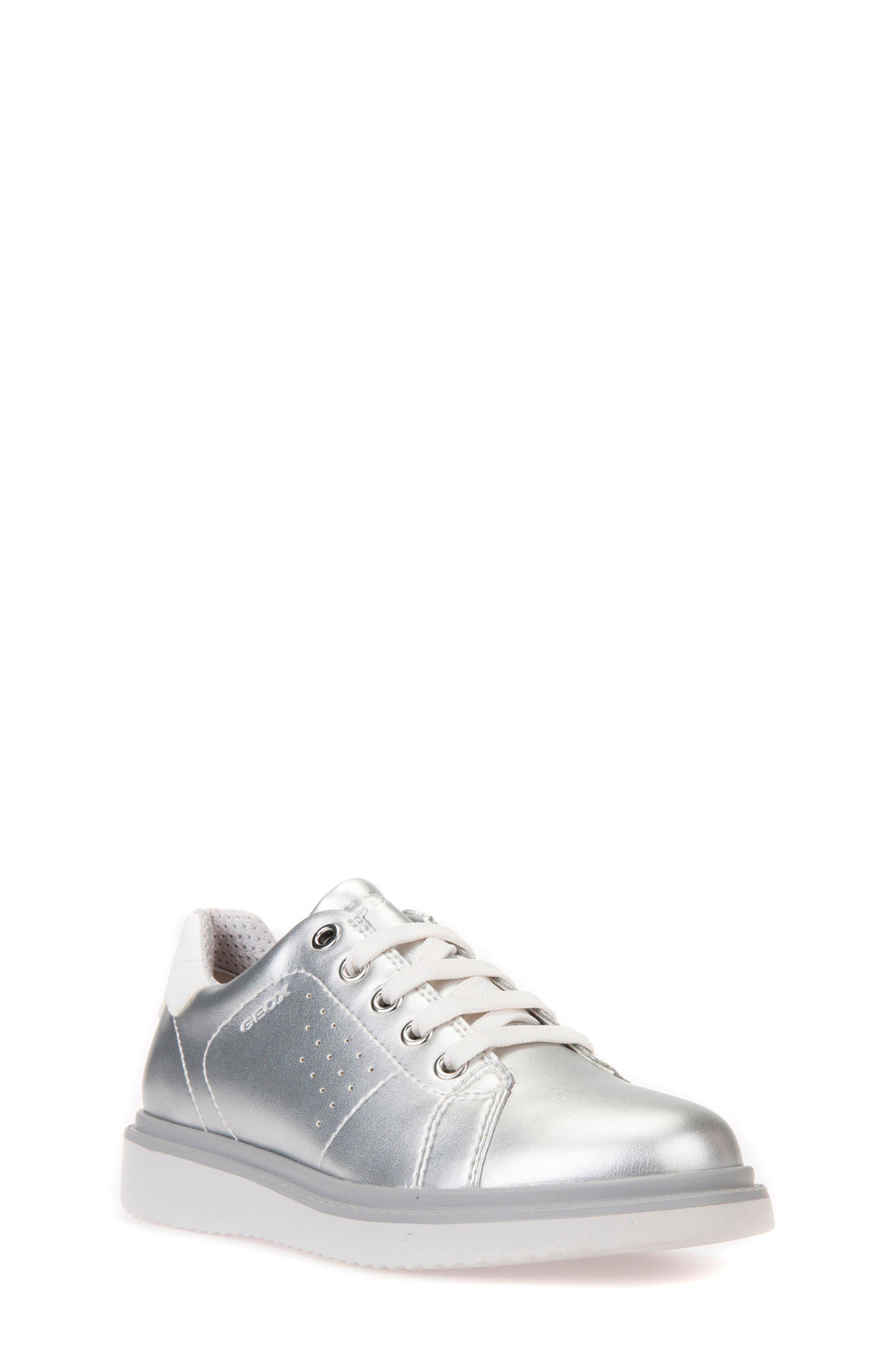 Thymar Low Top Sneaker,                         Main,                         color, SILVER