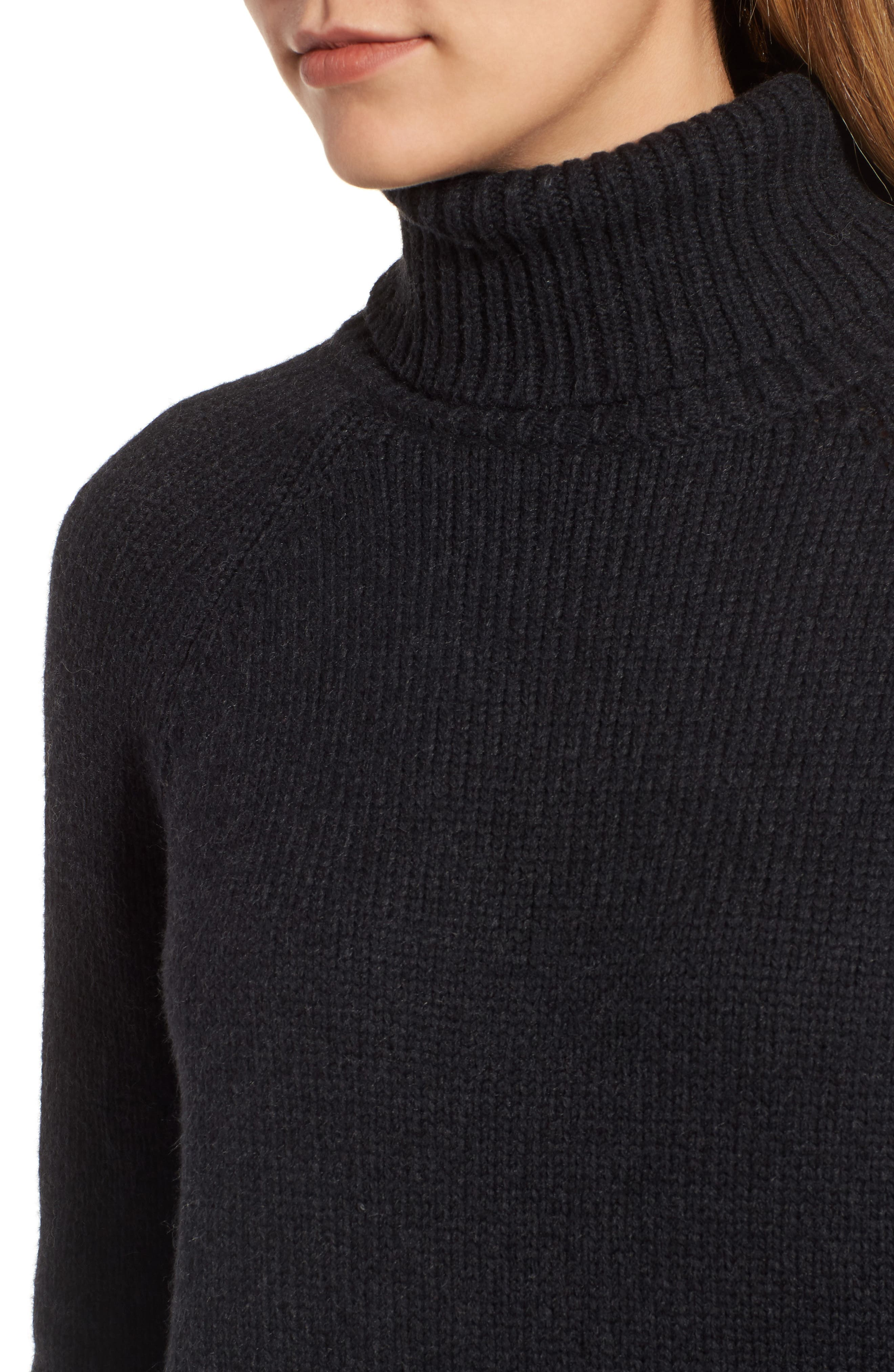 Textured Turtleneck Sweater,                             Alternate thumbnail 4, color,                             025