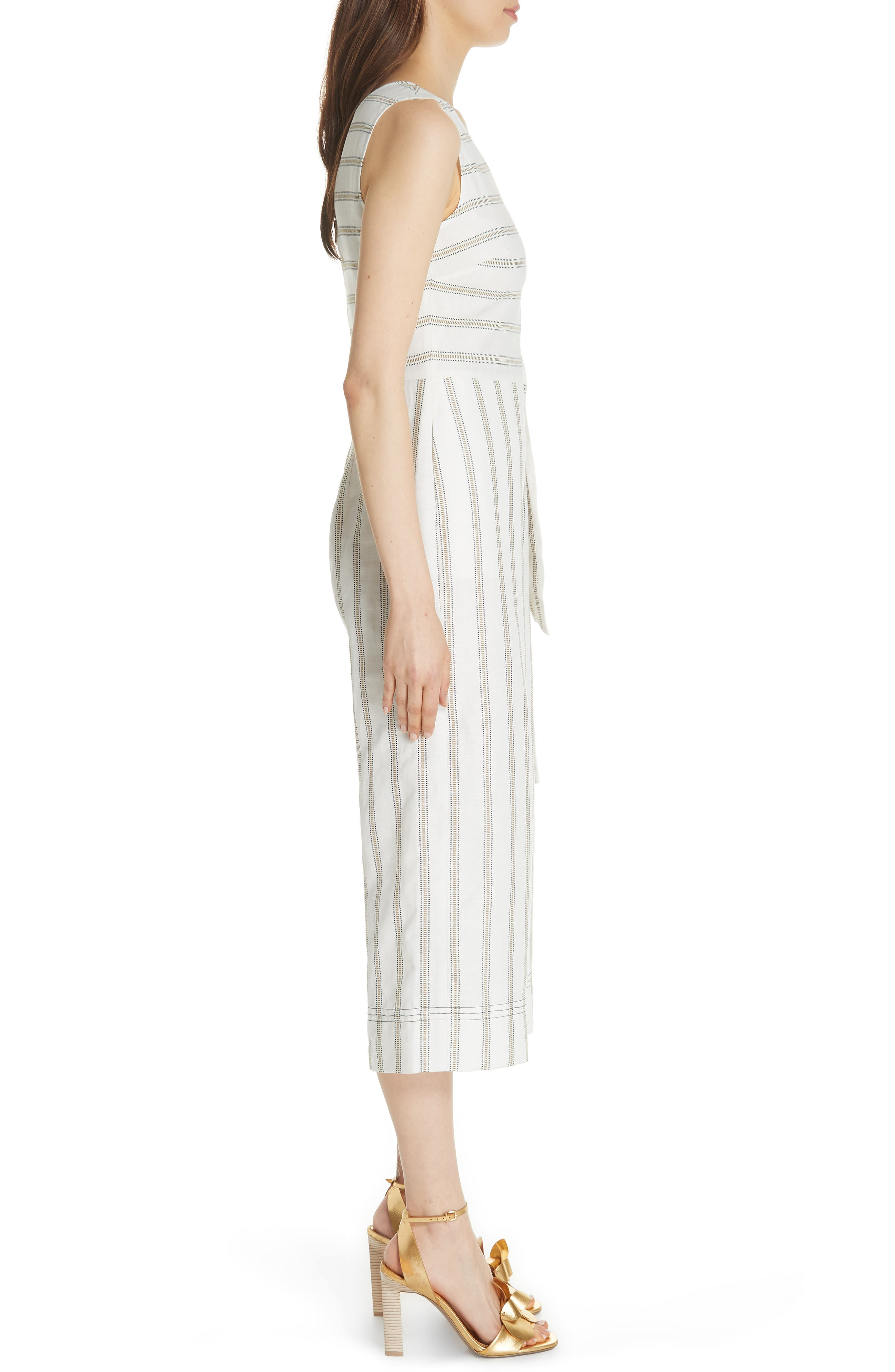Colour by Numbers Zelma Stripe Jumpsuit,                             Alternate thumbnail 3, color,                             905