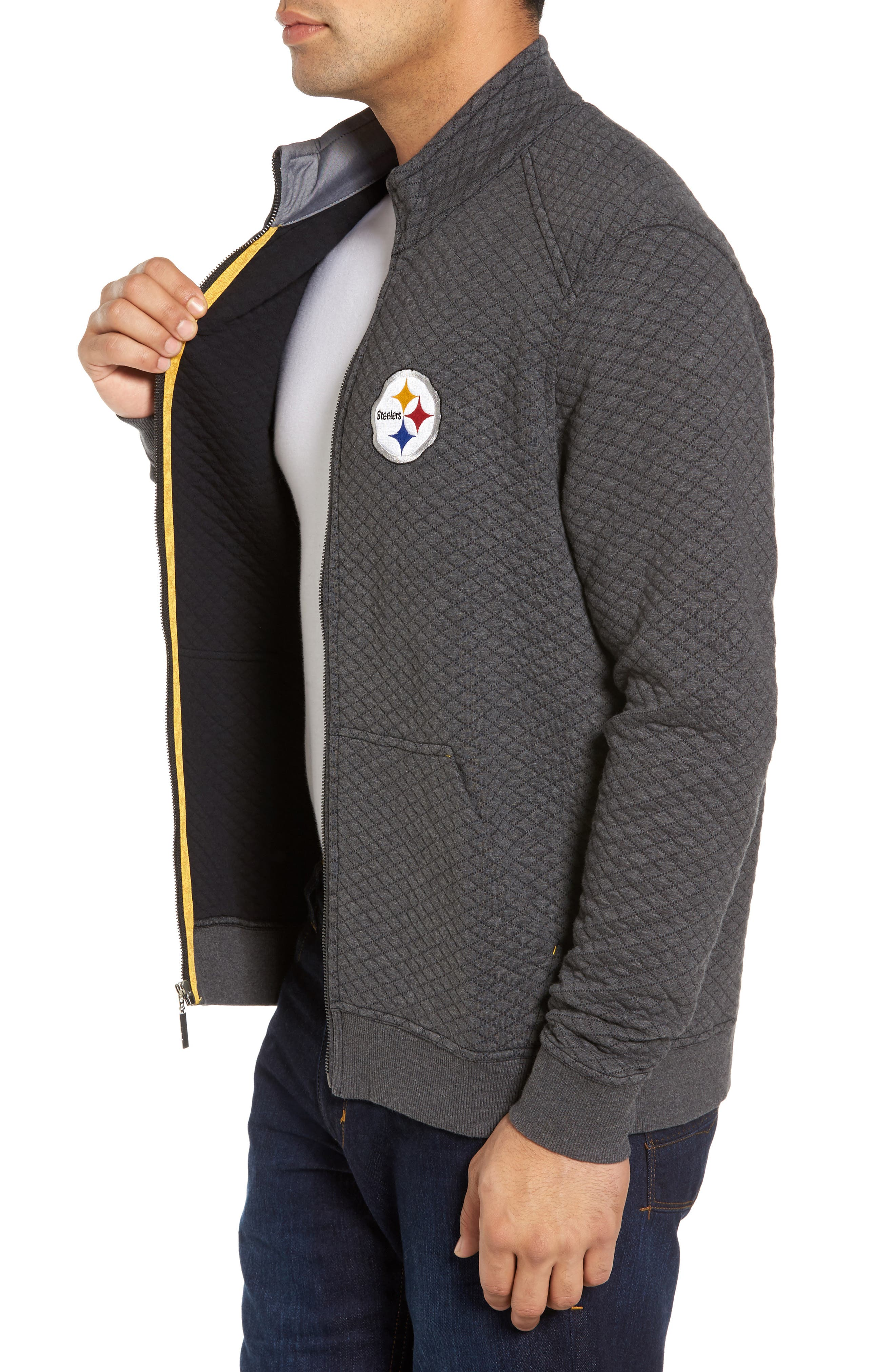 NFL Quiltessential Full Zip Sweatshirt,                             Alternate thumbnail 90, color,