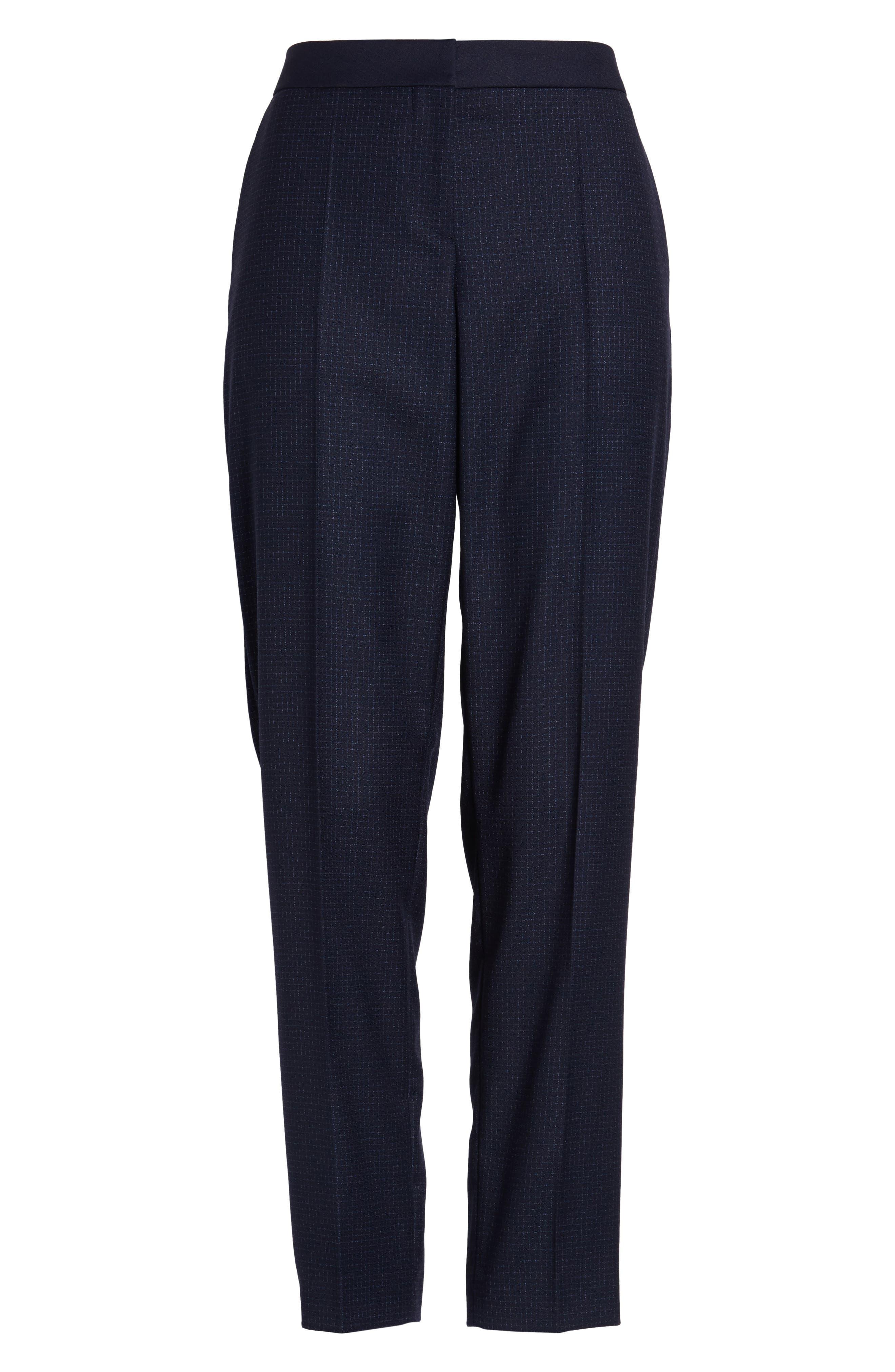 Tiluna Windowpane Slim Leg Trousers,                             Alternate thumbnail 6, color,