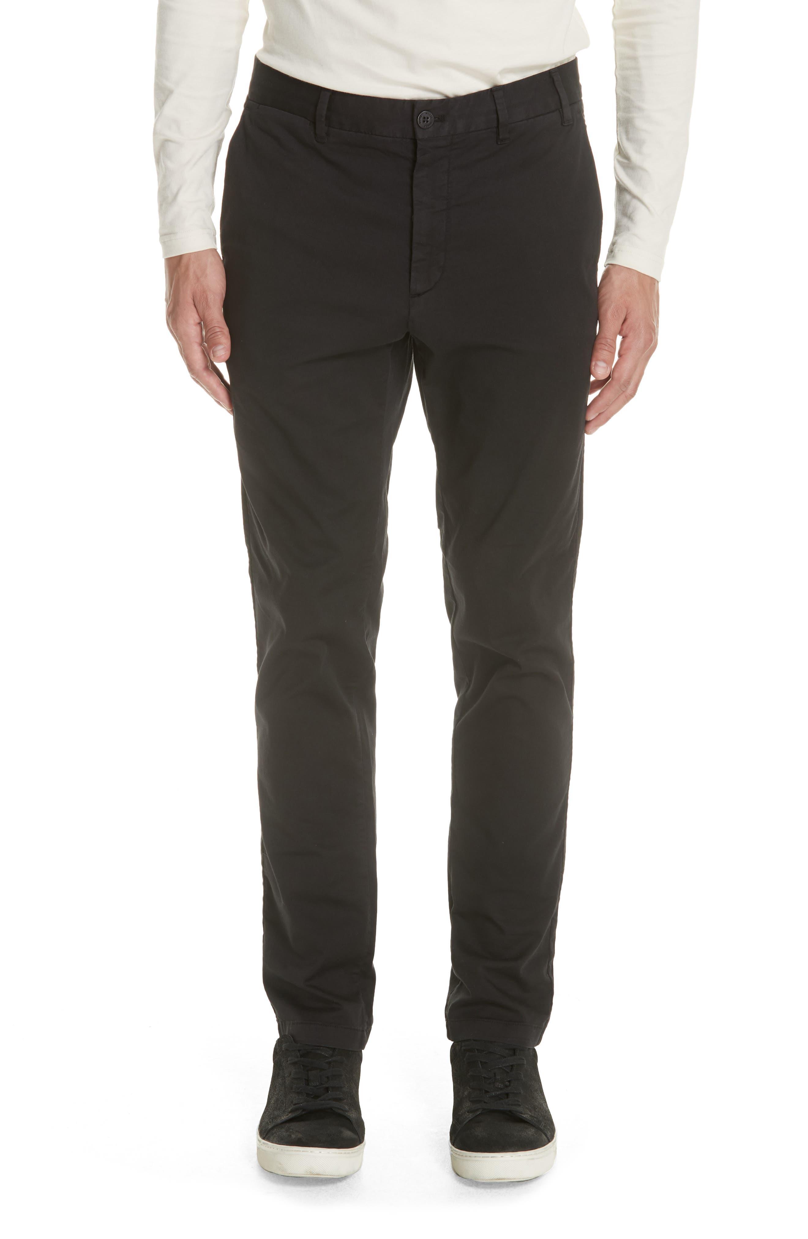 Aros Slim Fit Stretch Twill Pants,                         Main,                         color, BLACK