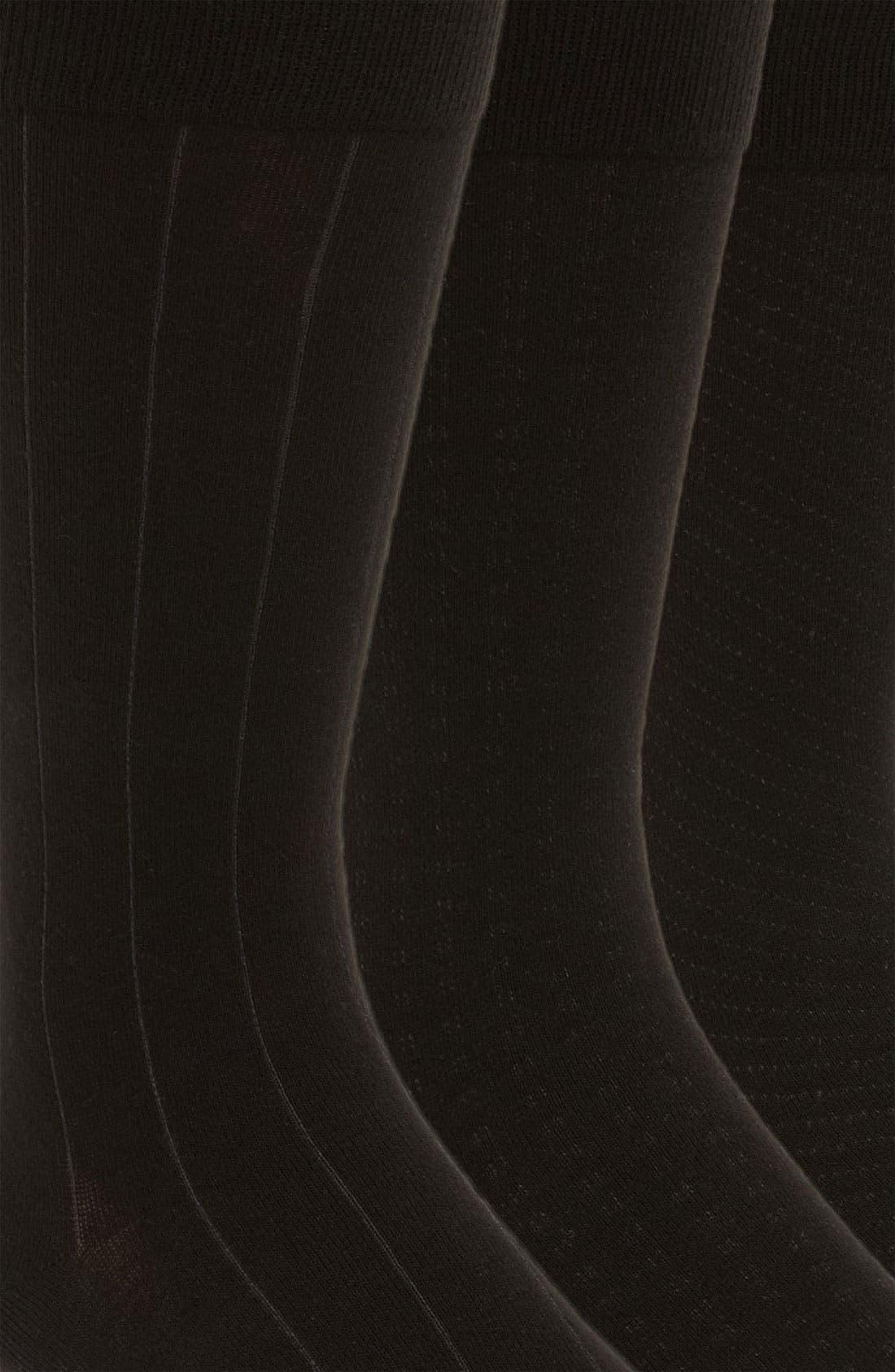 Dress Socks,                             Alternate thumbnail 2, color,                             BLACK