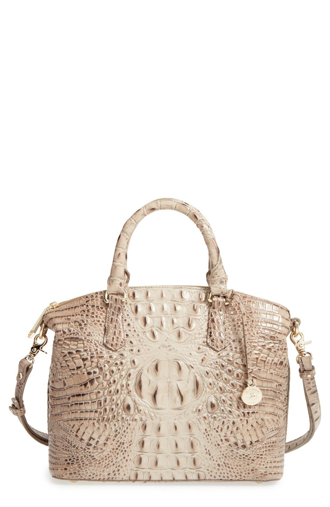 'Medium Duxbury' Croc Embossed Leather Satchel,                             Main thumbnail 12, color,