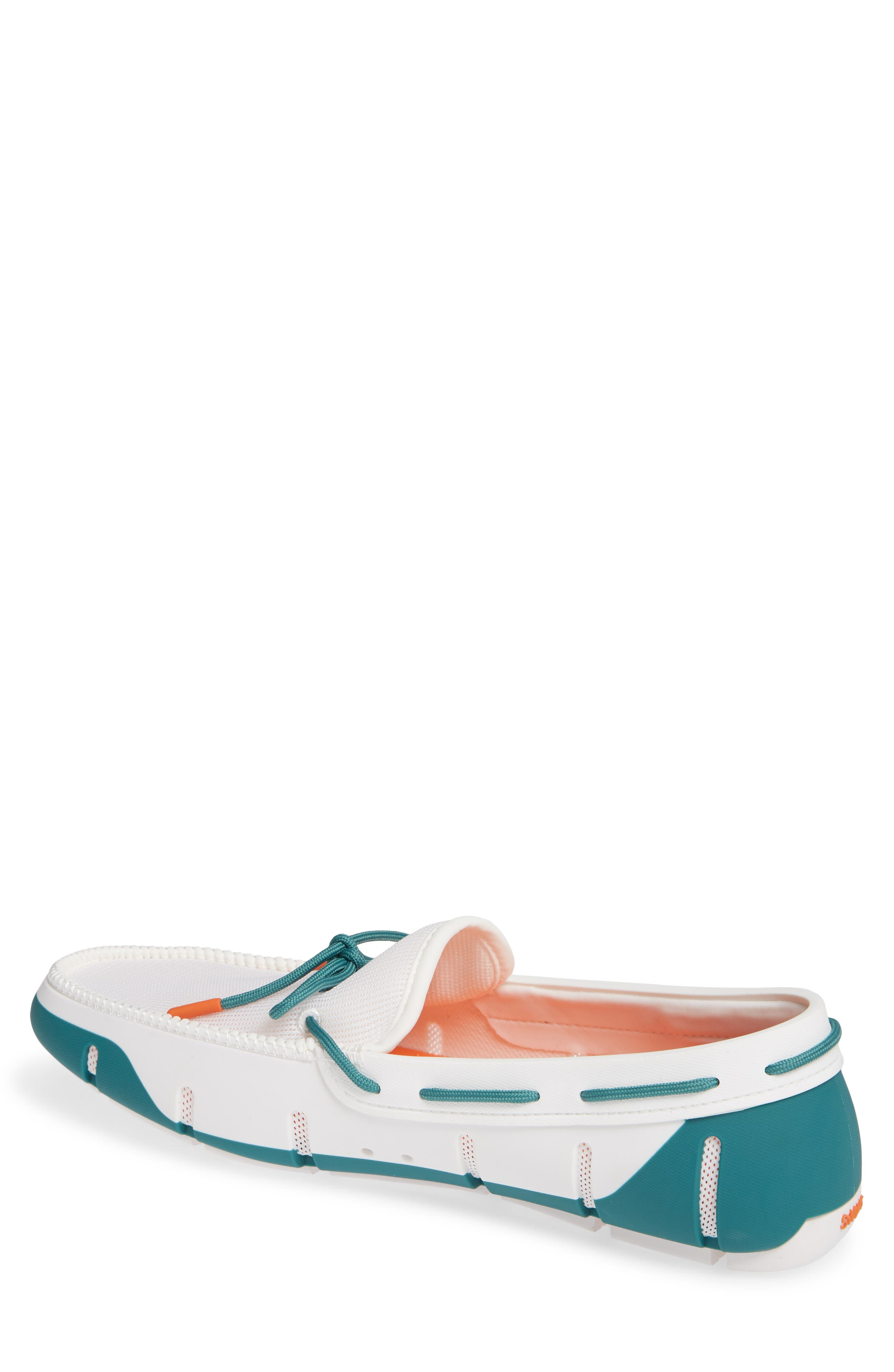 Stride Lace Loafer,                             Alternate thumbnail 2, color,                             WHITE/ TEAL