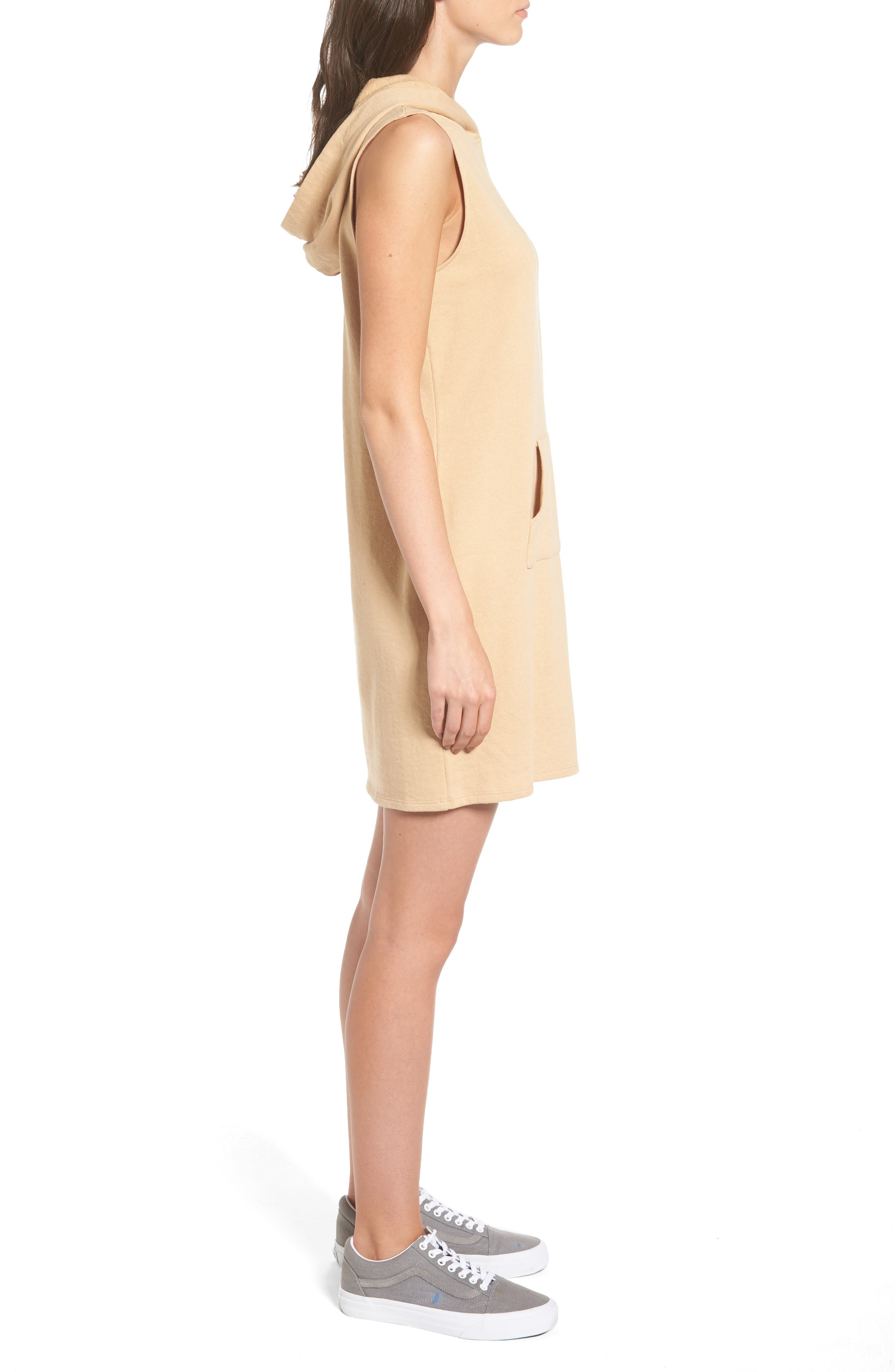 French Terry Hoodie Dress,                             Alternate thumbnail 3, color,                             250