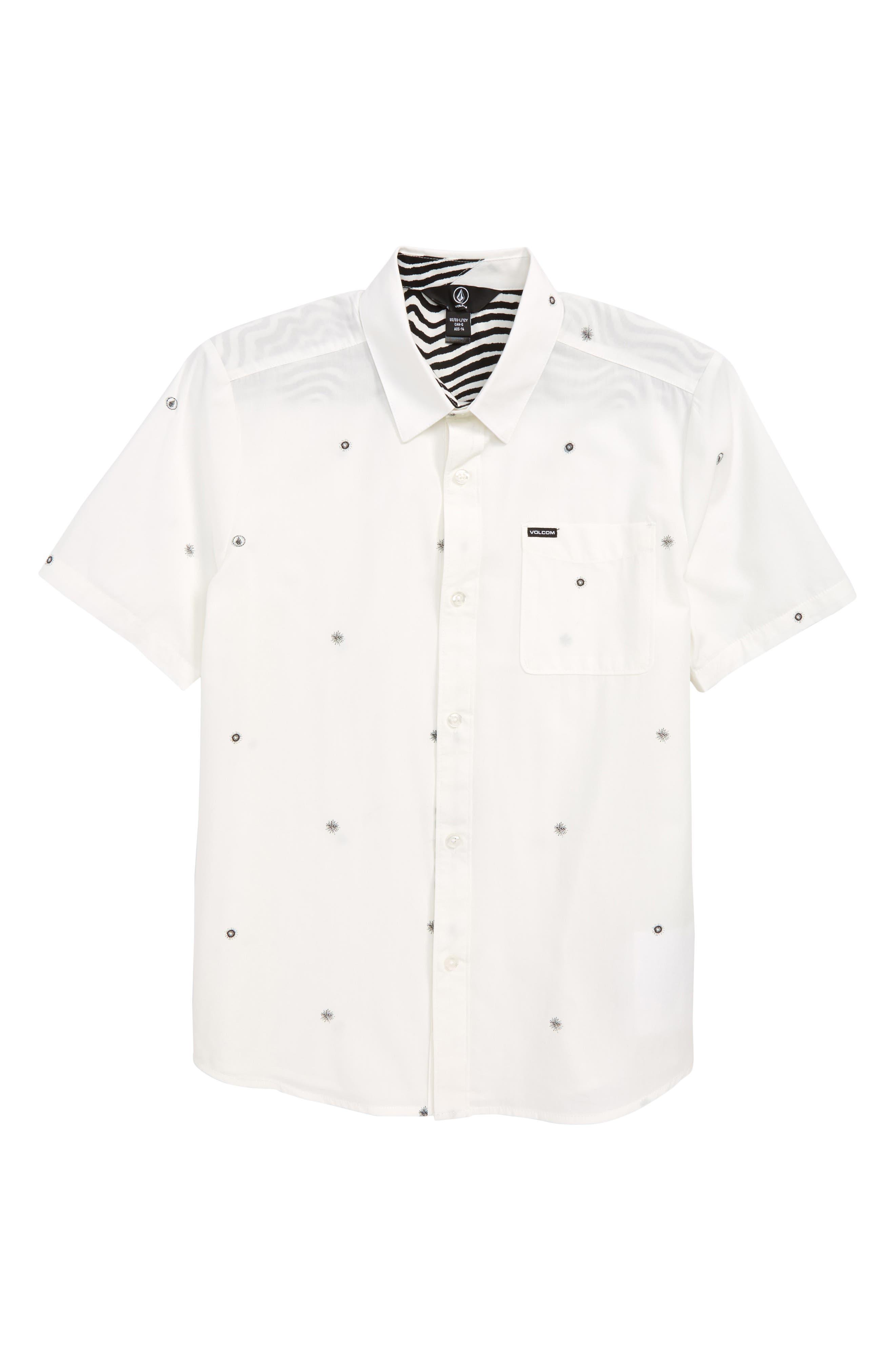 Bleeker Print Woven Shirt,                         Main,                         color, 100