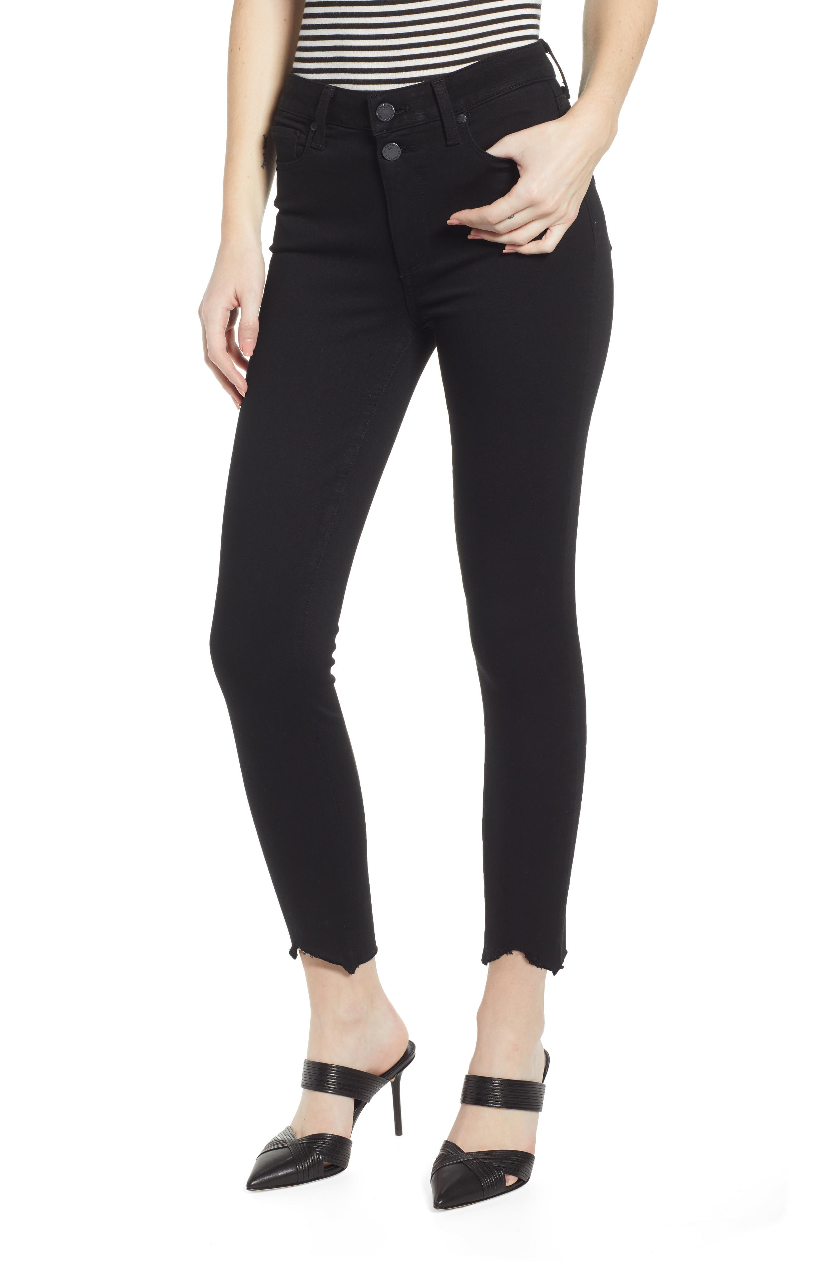 Paige Jeans TRANSCEND - HOXTON HIGH WAIST CROP SKINNY JEANS