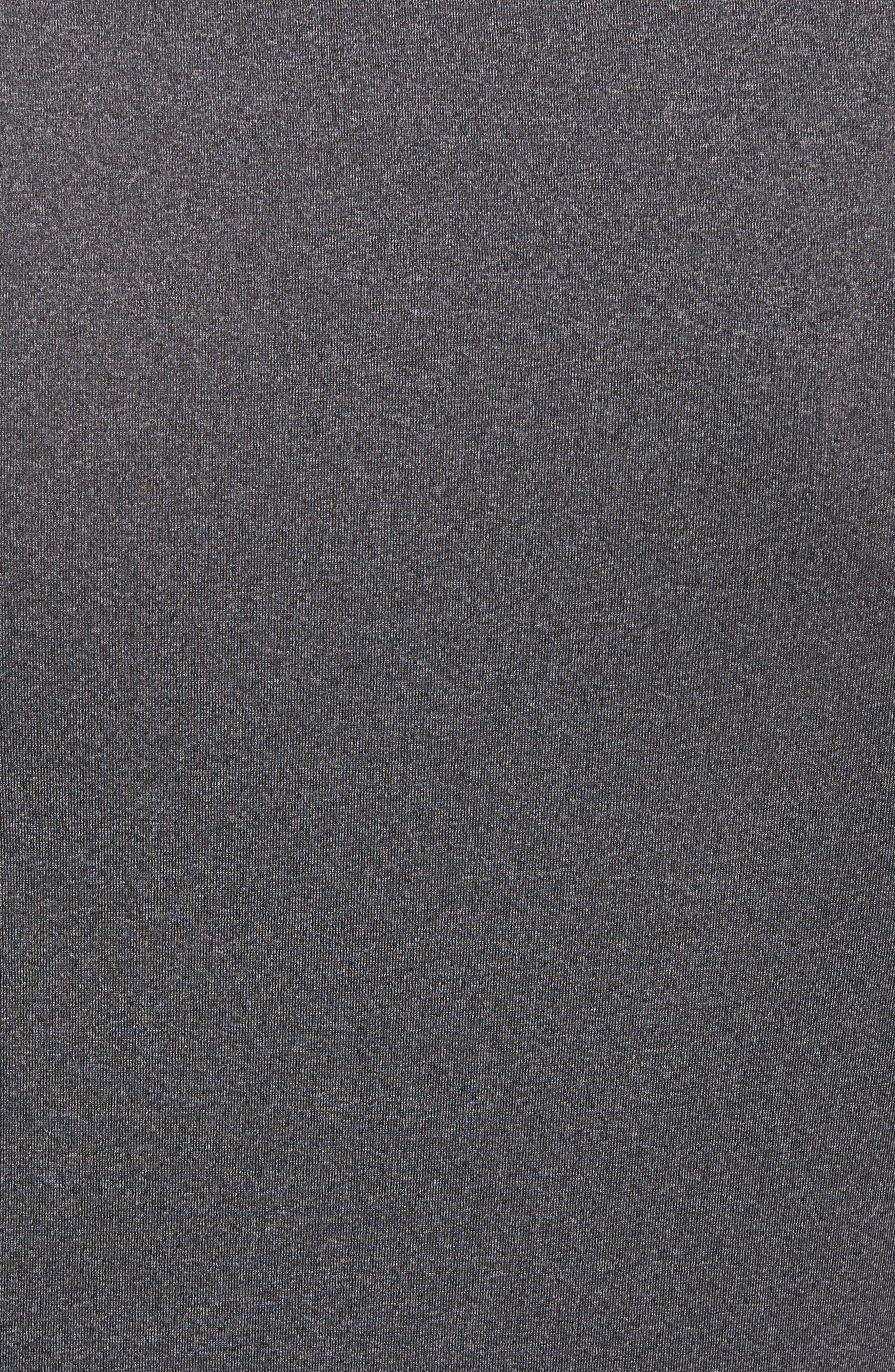 HeatGear<sup>®</sup> Compression Fit T-Shirt,                             Alternate thumbnail 6, color,                             CARBON HEATHER/ BLACK