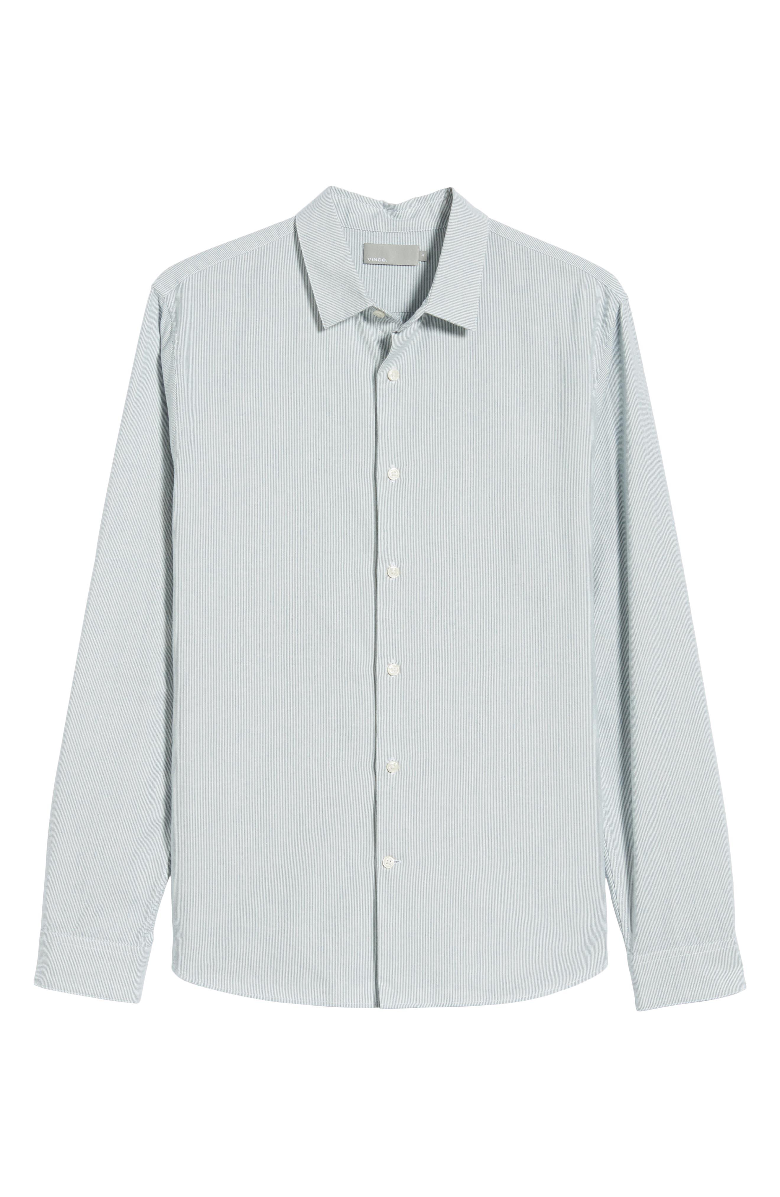 Classic Fit Microstripe Sport Shirt,                             Alternate thumbnail 5, color,                             424