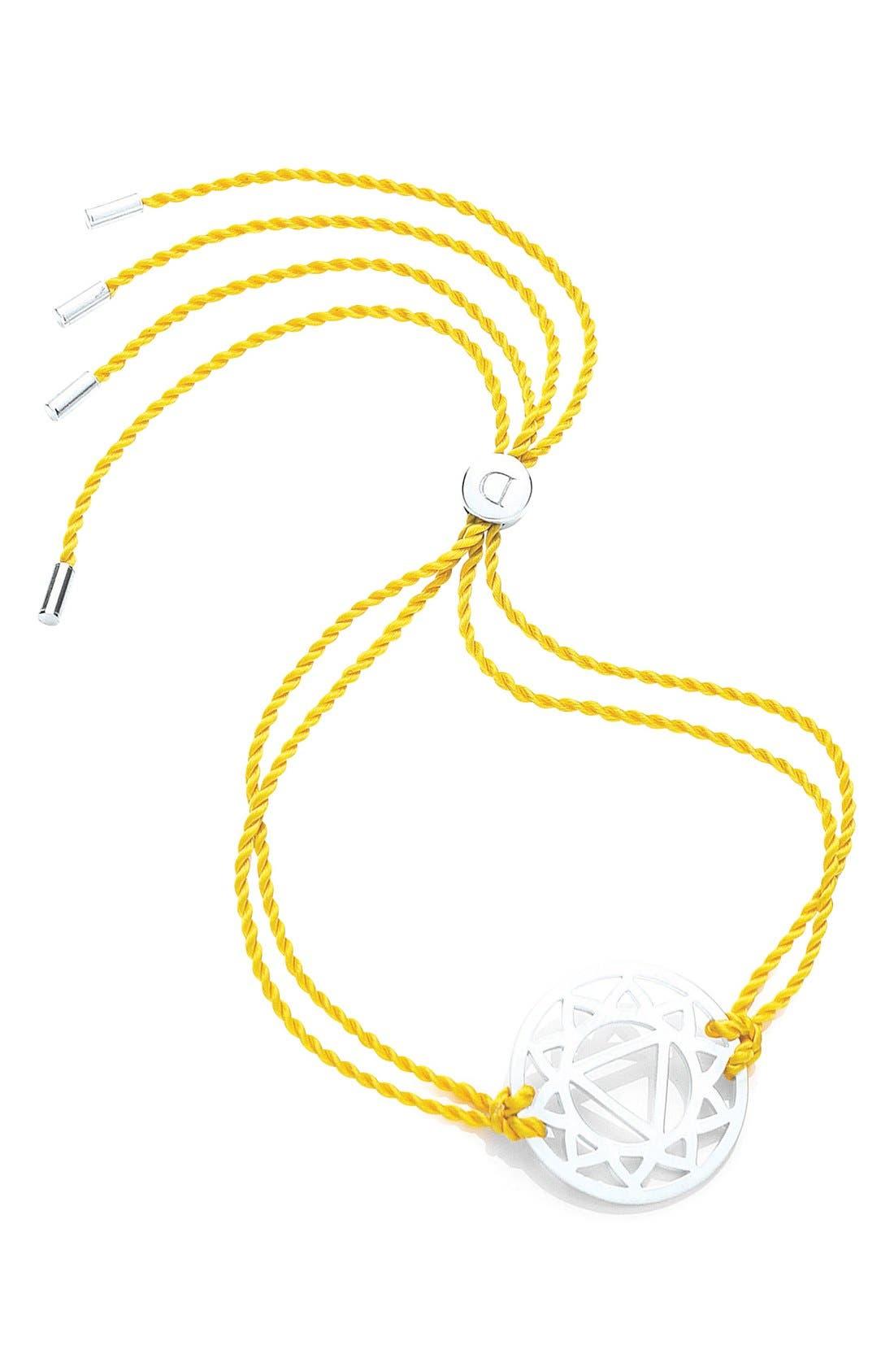 'Solar Plexus Chakra' Cord Bracelet,                         Main,                         color, 700